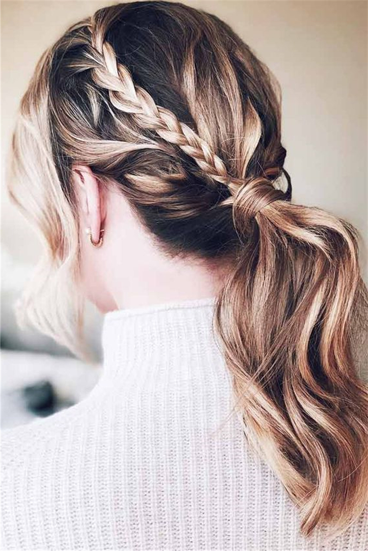 Famous Low Ponytail Hairstyles With Regard To 37 Easy Twisted Low Ponytail Hairstyles Sumcoco (View 8 of 20)