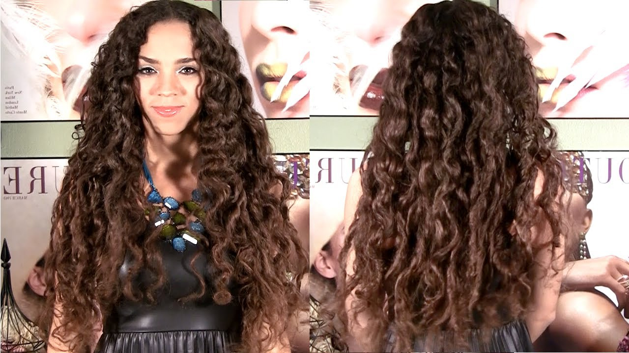 Famous Micro Braids Into Ringlets Pertaining To No Heat Curls – Curls Without Heat Hair Tutorial – No Braids Or Curlers (View 10 of 20)