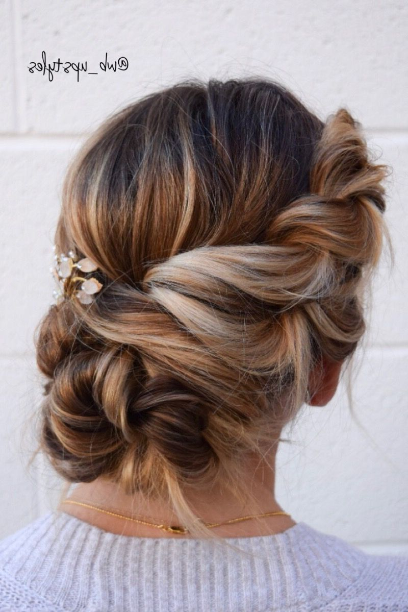 Famous Rope Twist Updo Hairstyles With Accessories Within Twisted Undone Hairstyle. Beautiful Wedding Updo (View 12 of 20)