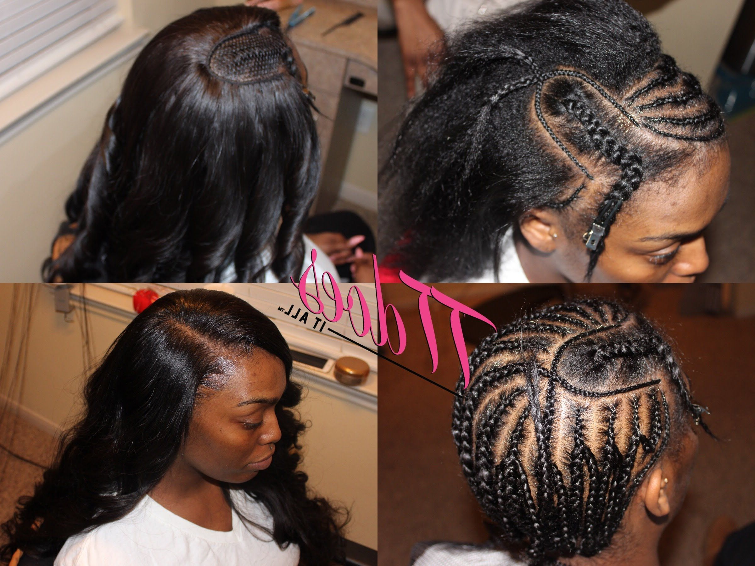 Famous Side Parted Braid Hairstyles Inside Braid Pattern : Deep Side Part Sew In (View 16 of 20)