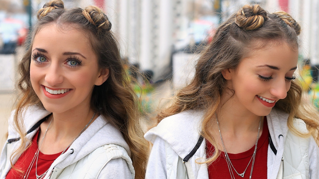 Famous Stacked Mini Buns Hairstyles With Regard To 25 Cutest Two Bun Hairstyles For Women – Hairstylecamp (View 10 of 20)