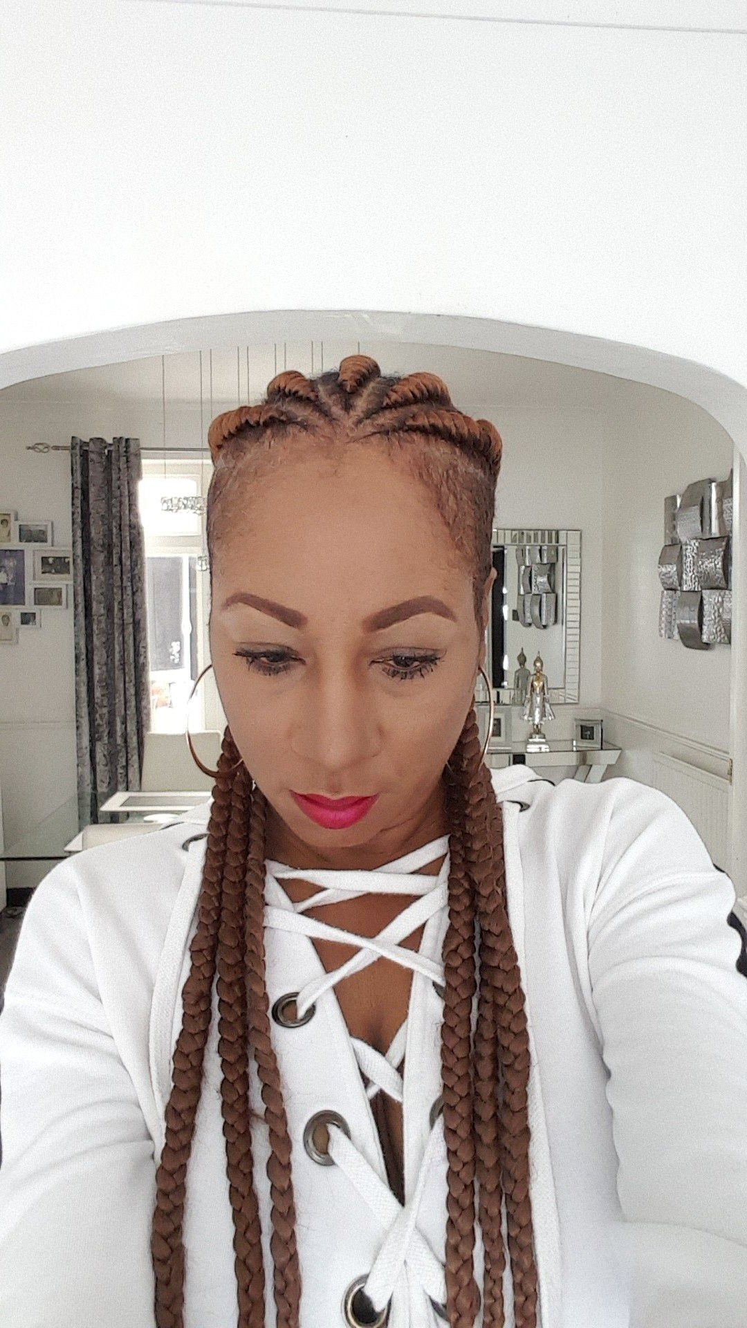Famous Tapered Tail Braided Hairstyles Intended For Pin On Beauty♡makeup♡hair♡wigs♡locs/braids (Gallery 18 of 20)