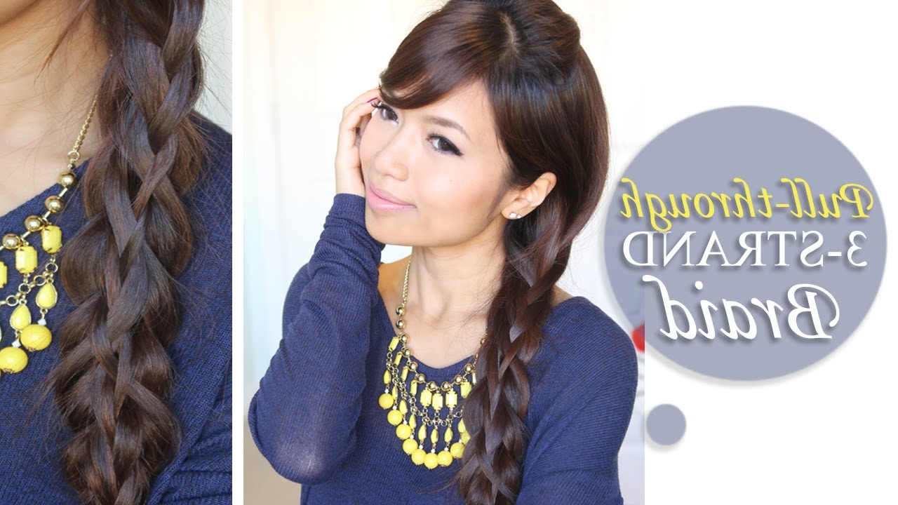Famous Three Strand Side Braided Hairstyles Intended For Intricate 3 Strand Pull Through Braid · Bebexo Lifestyle Blog (View 8 of 20)