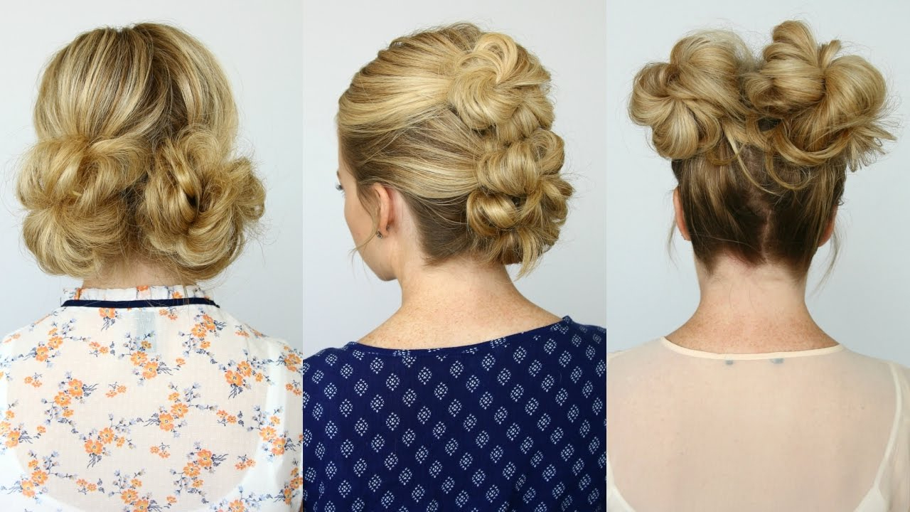 Famous Topknot Hairstyles With Mini Braid With Regard To 5 Summer Mini Bun Hairstyles (Gallery 13 of 20)