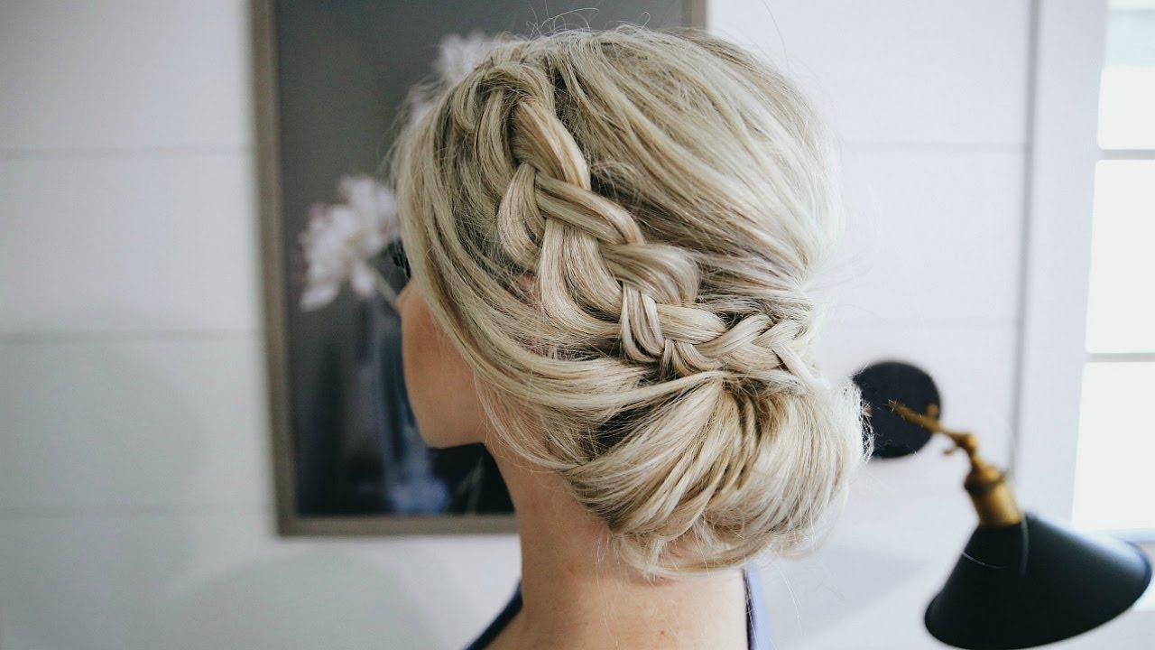 Featured Photo of Braided Chignon Bun Hairstyles