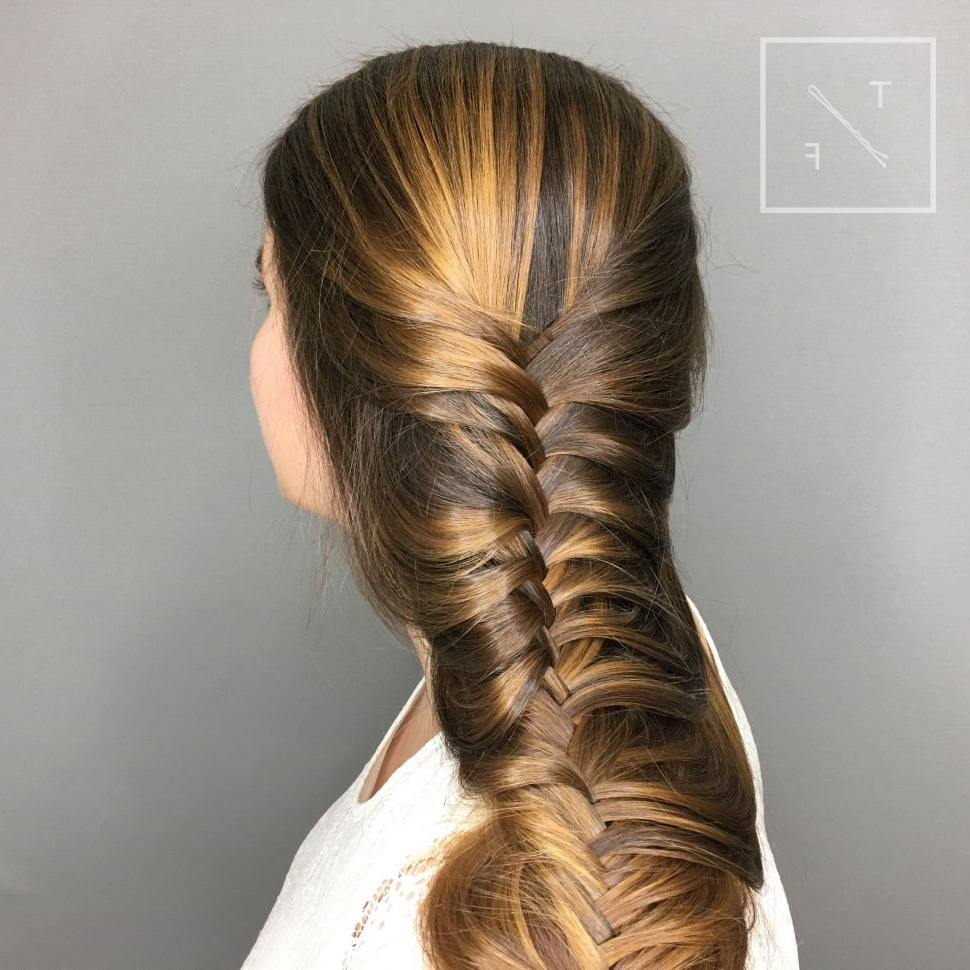 Fashion : The New Ponytail Fishtail Braid Hairstyles Gallery With Famous Ponytail Fishtail Braided Hairstyles (View 6 of 20)