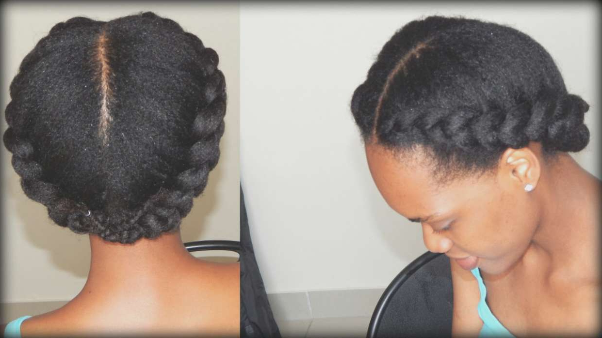 Fashionable Crown Cornrow Braided Hairstyles In Wedding Hairstyles : Natural Hair Cornrow Braid Out Black (View 15 of 20)