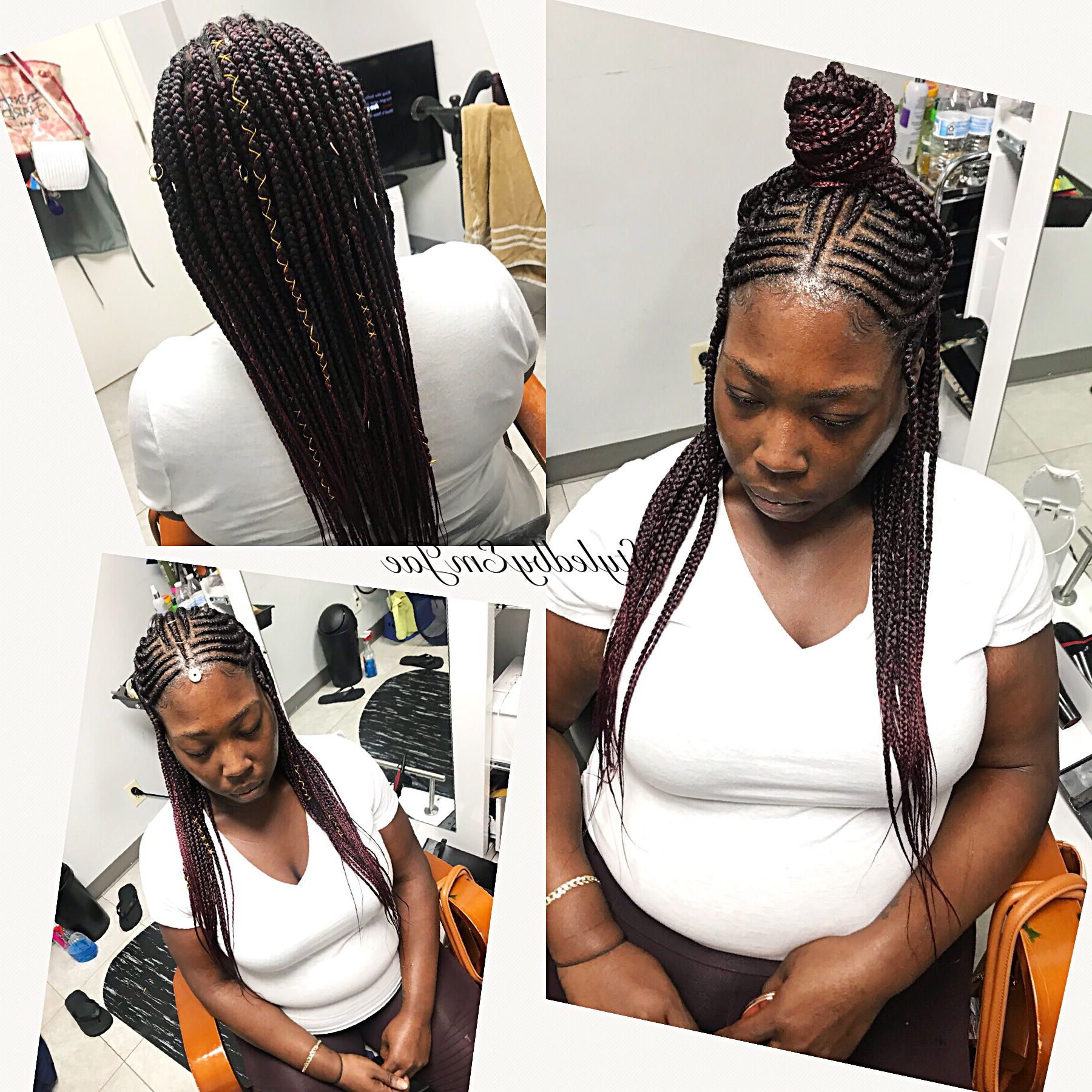 Fashionable Dookie Braid Hairstyles In Half Up Pony Pertaining To Fulani Braids, Tribal Braids, Box Braids In Back Cornrows In (View 11 of 20)