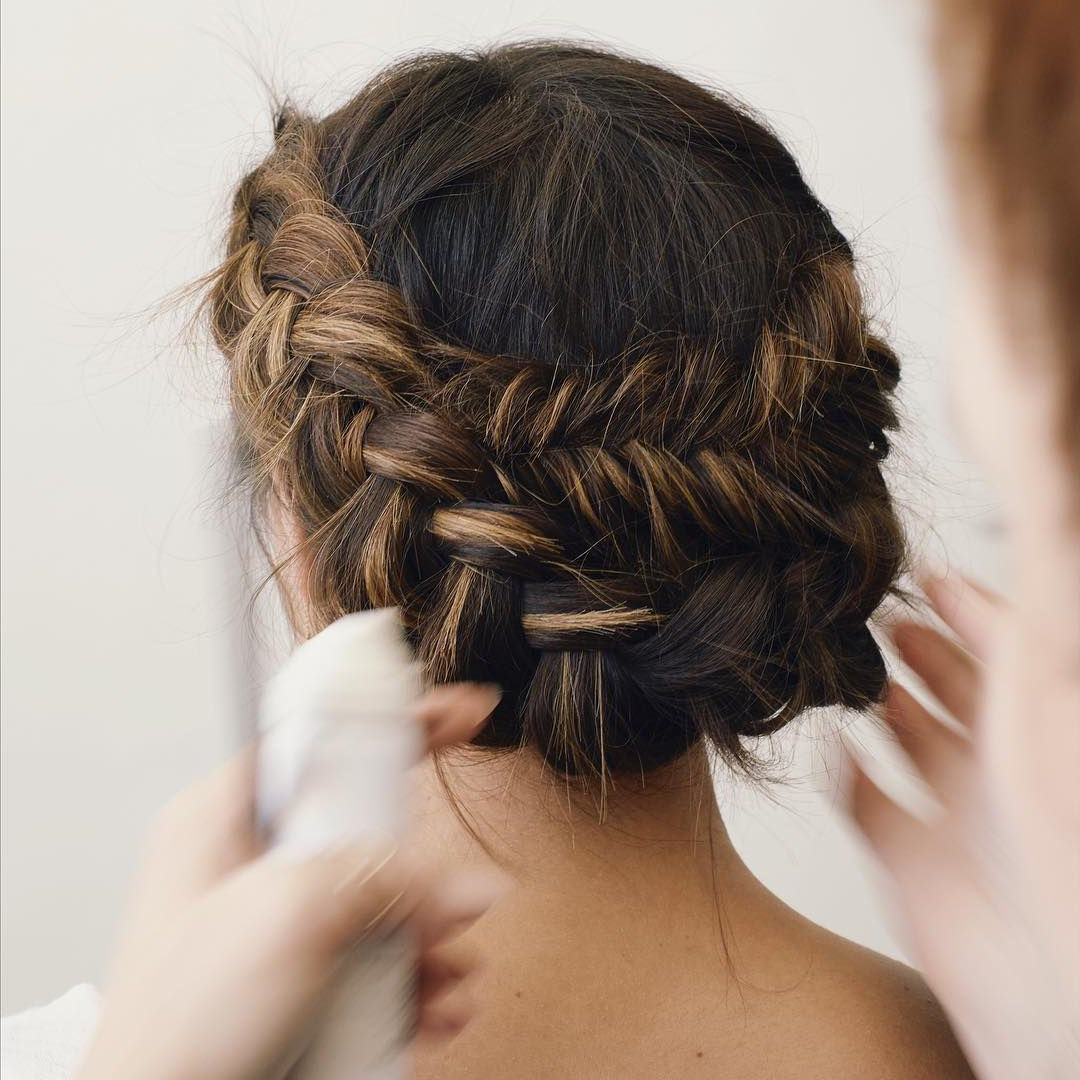 Fashionable Dutch Braid Bun Hairstyles Pertaining To 50 Braided Wedding Hairstyles We Love (Gallery 13 of 20)