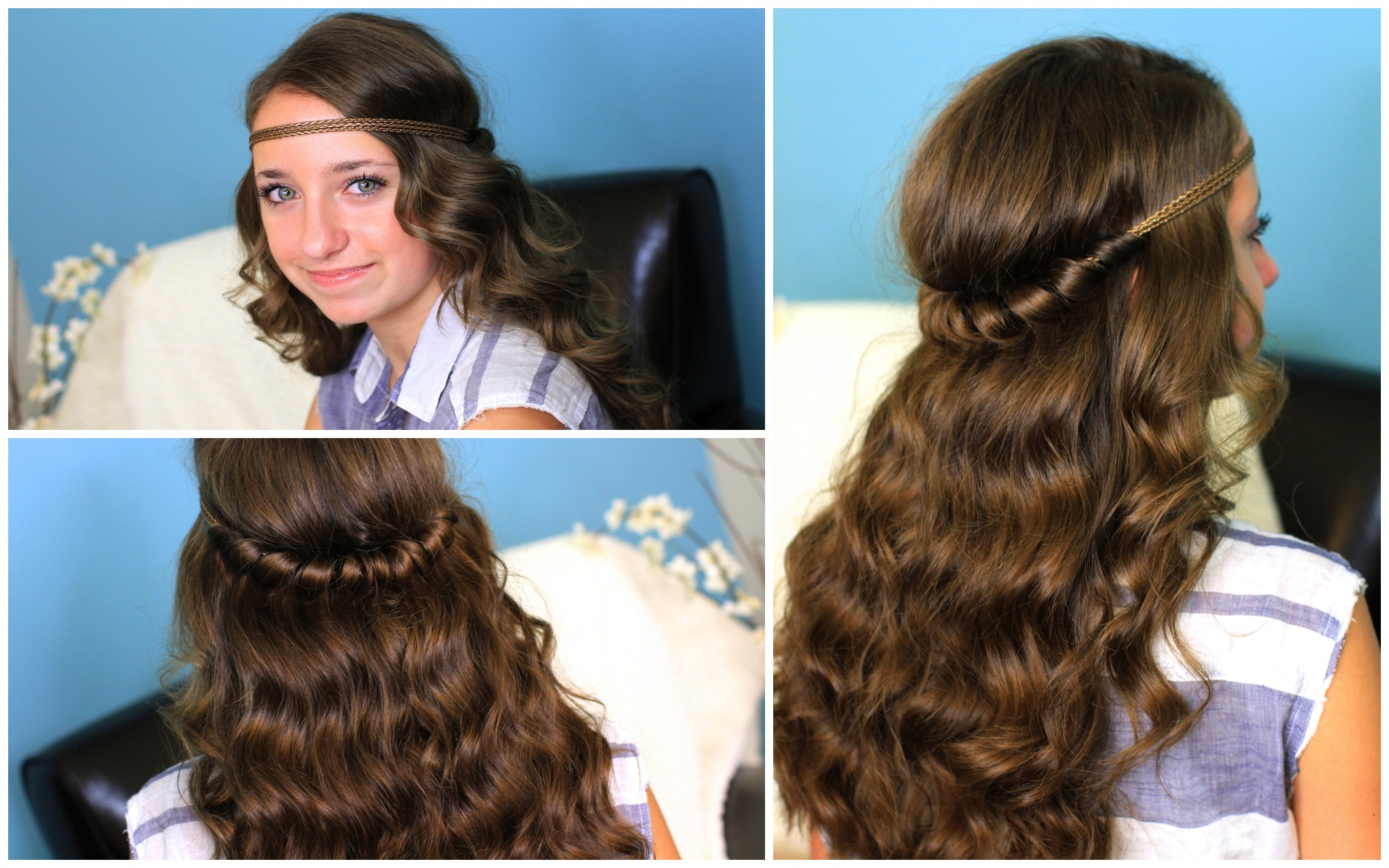 Fashionable Headband Braided Hairstyles With Long Waves With Headband Twist (View 7 of 20)