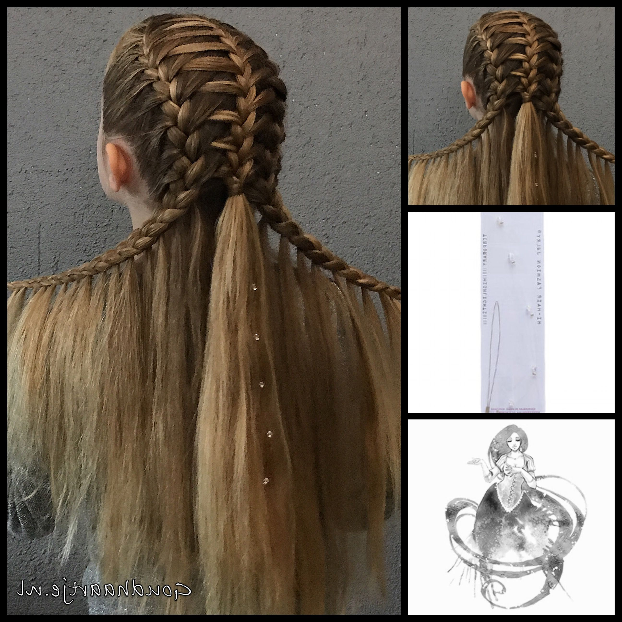 Fashionable Medieval Crown Braided Hairstyles Inside Trança Medieval (View 9 of 20)