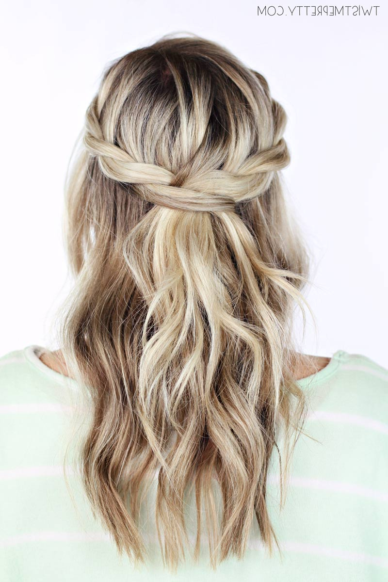 Fashionable Partial Updo Rope Braids With Small Twists In Twisted Crown Braid Tutorial – Twist Me Pretty (View 9 of 20)