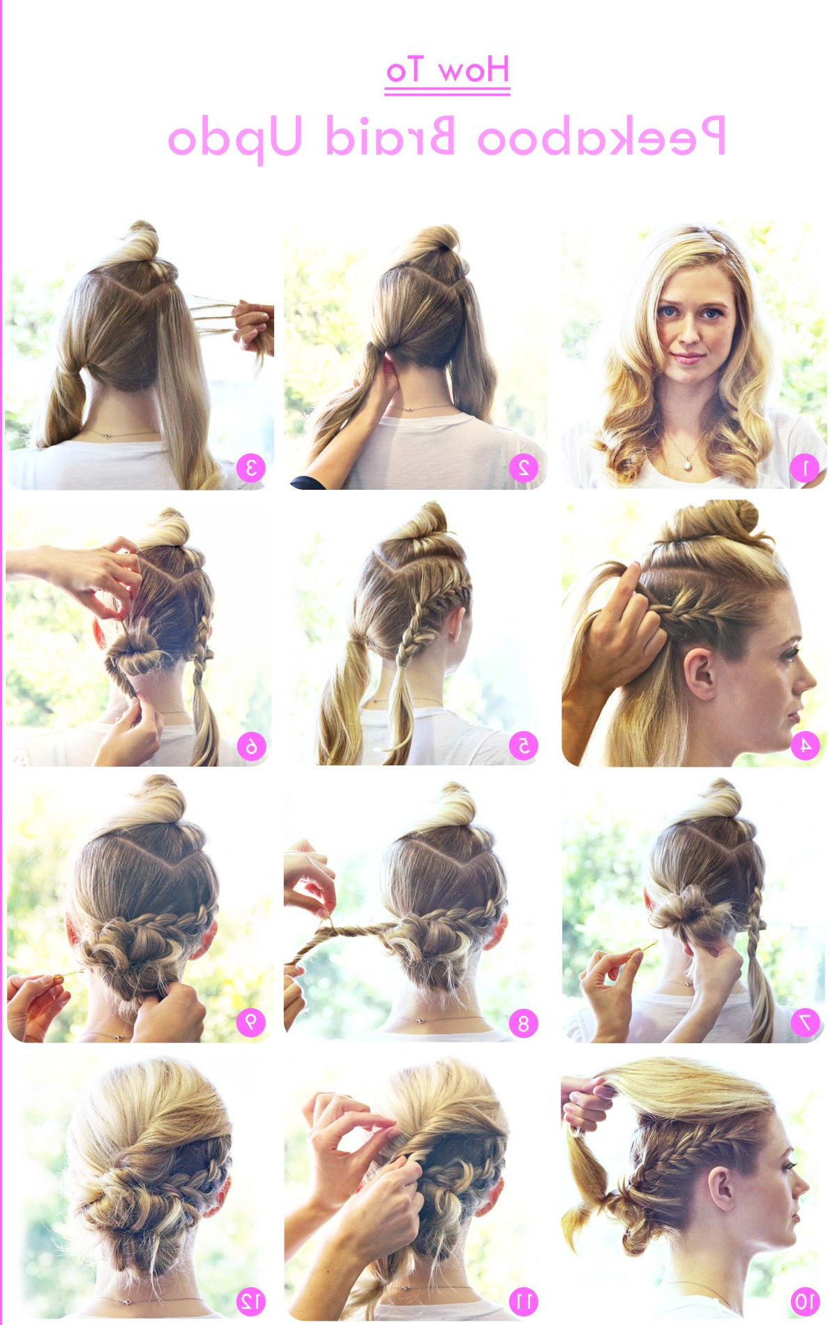 Fashionable Peek A Boo Braided Hairstyles For Edgy Upstyle Braid Tutorial (View 10 of 20)