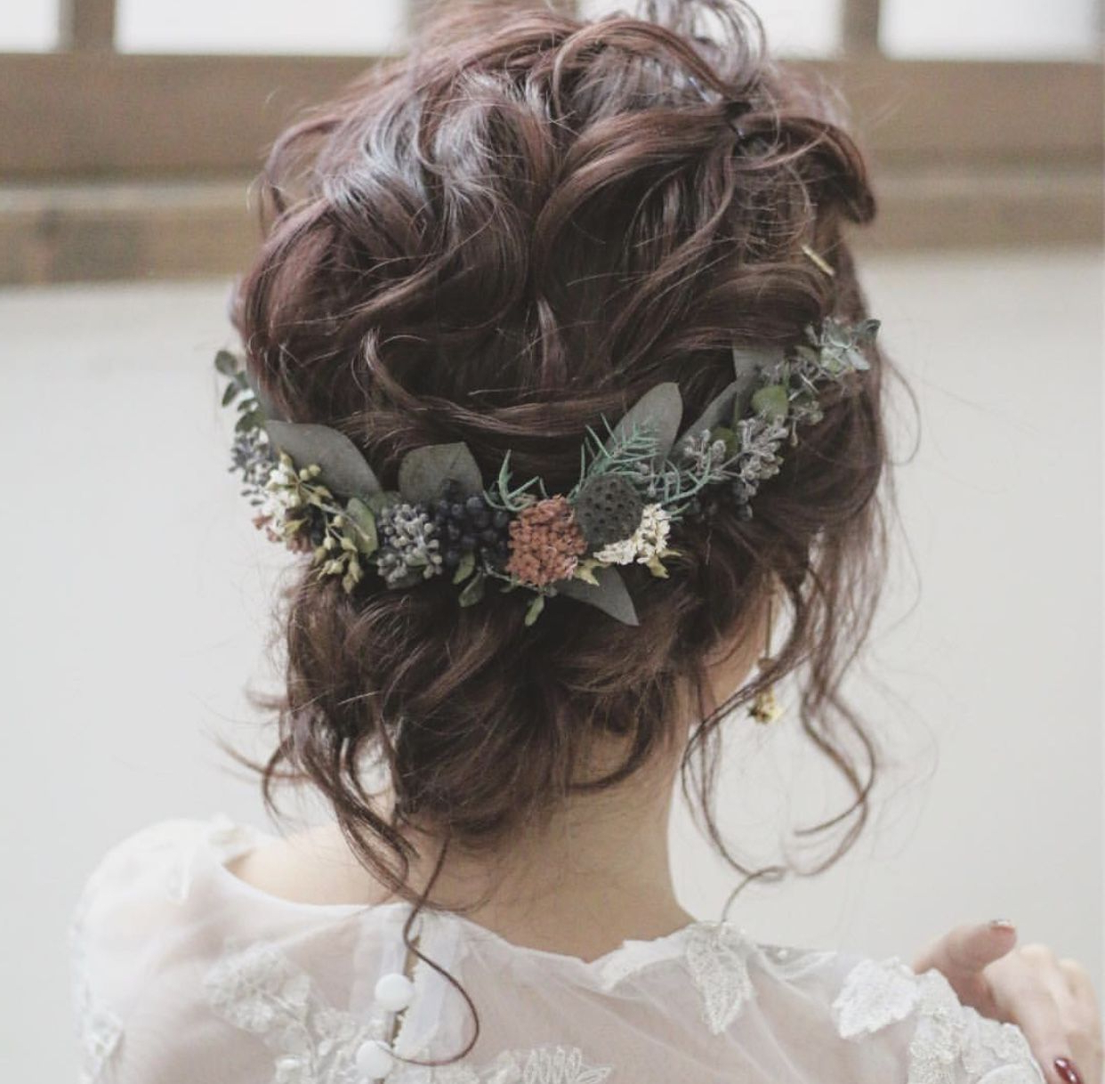 Fashionable Romantic Florals Updo Hairstyles Intended For Whimsical / Bohemian / Romantic (View 15 of 20)