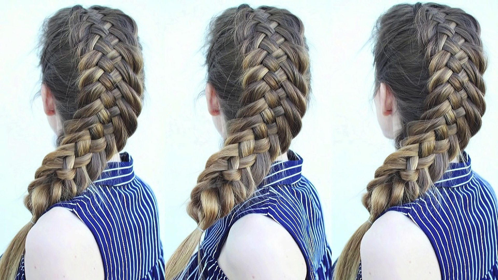 Fashionable Rope And Fishtail Braid Hairstyles In Dutch Woven Fishtail Braid (View 9 of 20)