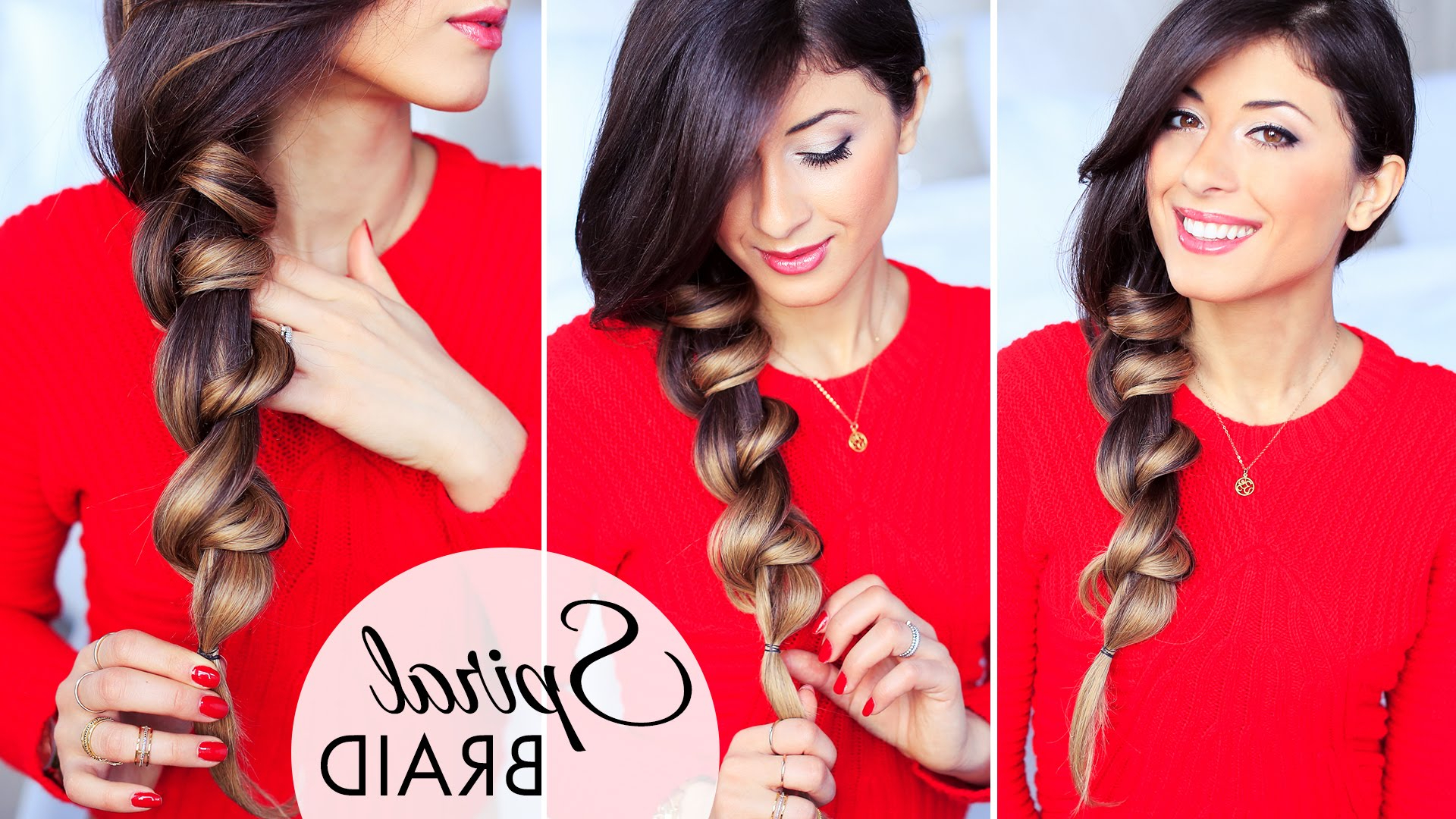 Fashionable Three Strand Side Braided Hairstyles Intended For Spiral Braid (The New 3 Strand Braid) (View 9 of 20)