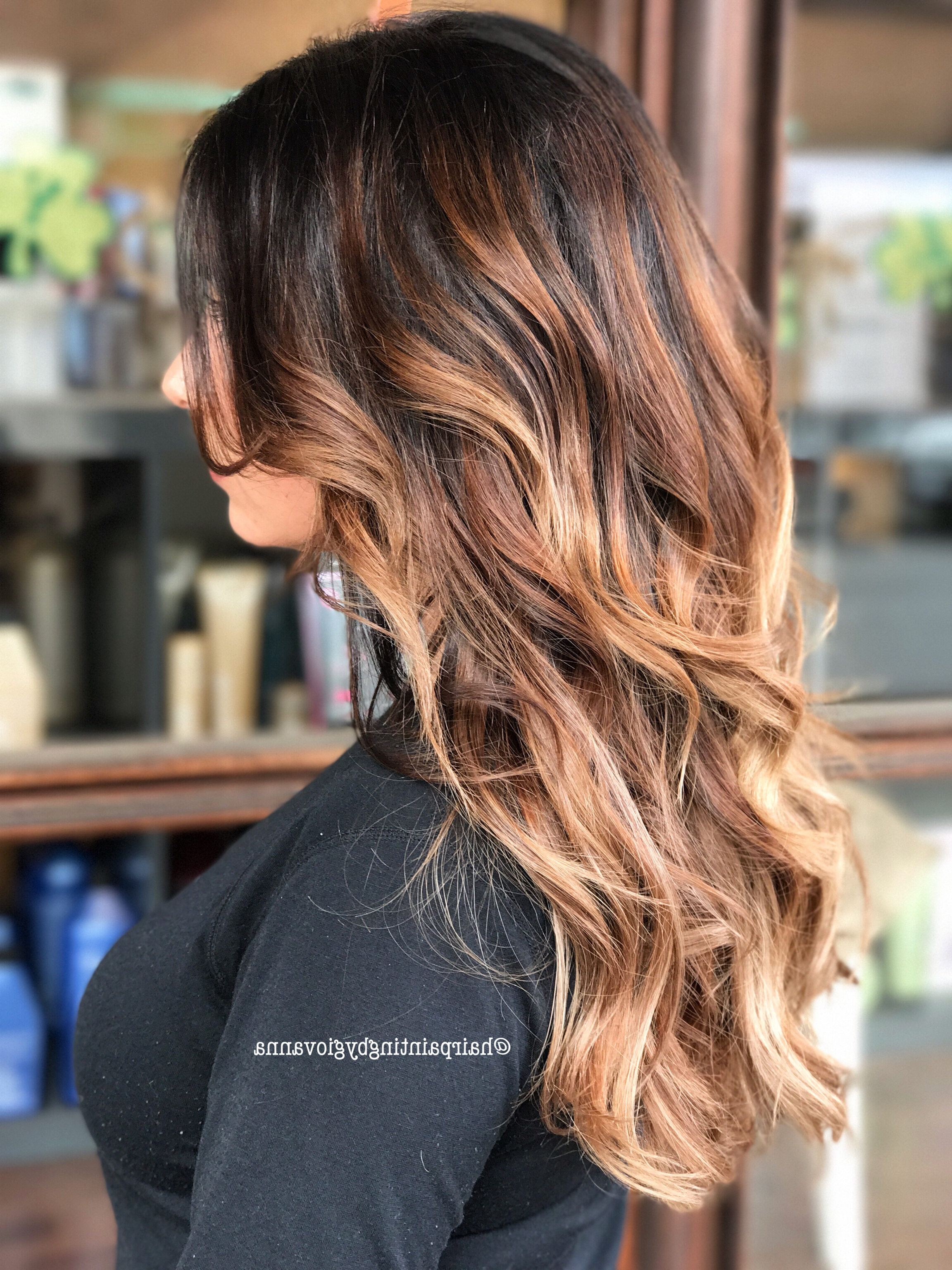 Fashionable Tiny Twist Hairstyles With Caramel Highlights Intended For Cinnamon Caramel Balayage #balayage #hairinspo #brownhair (View 10 of 20)