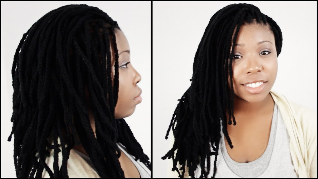 Fashionable Very Thick And Long Twists Yarn Braid Hairstyles With Regard To Yarn Braid Styles Start To Finish In 3 Minutes!!! (View 10 of 20)