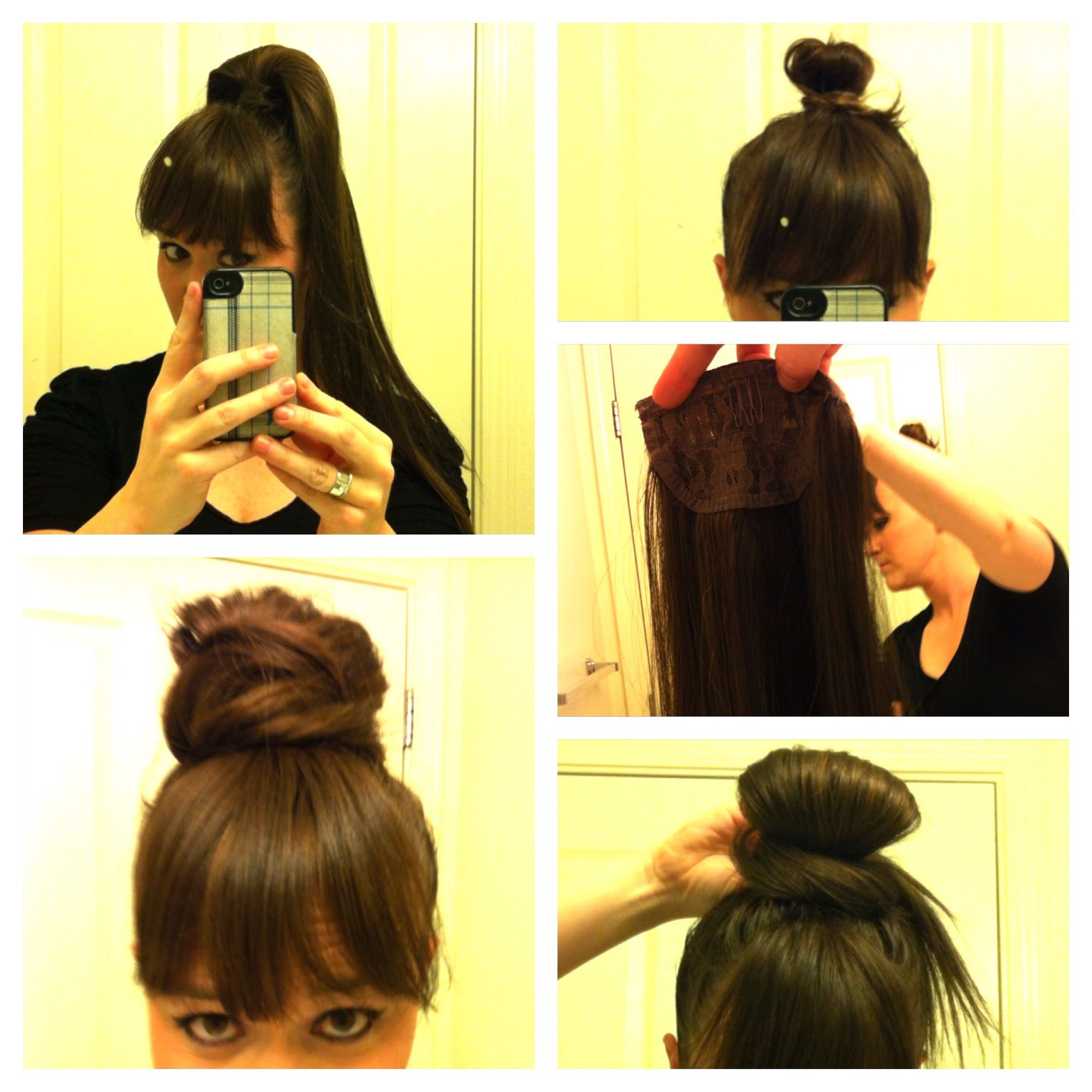 Fashionable Wrap Around Ponytail Updo Hairstyles Regarding My Ponytail Hair Extension To Bun How To Secure You Own (View 6 of 20)