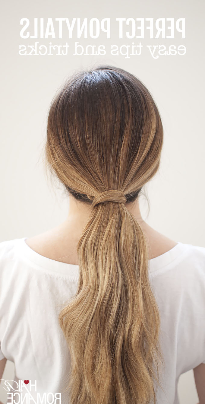 Fashionable Wrap Around Ponytail Updo Hairstyles Throughout Perfect Ponytails – How To Use A Hair Bungee And Hide Your (View 7 of 20)