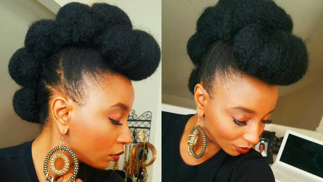 Faux Bun Hawk Hairstyle In Less Then Five Minutes ♡ With Regard To Most Up To Date Twisted Faux Hawk Updo Hairstyles (View 7 of 20)