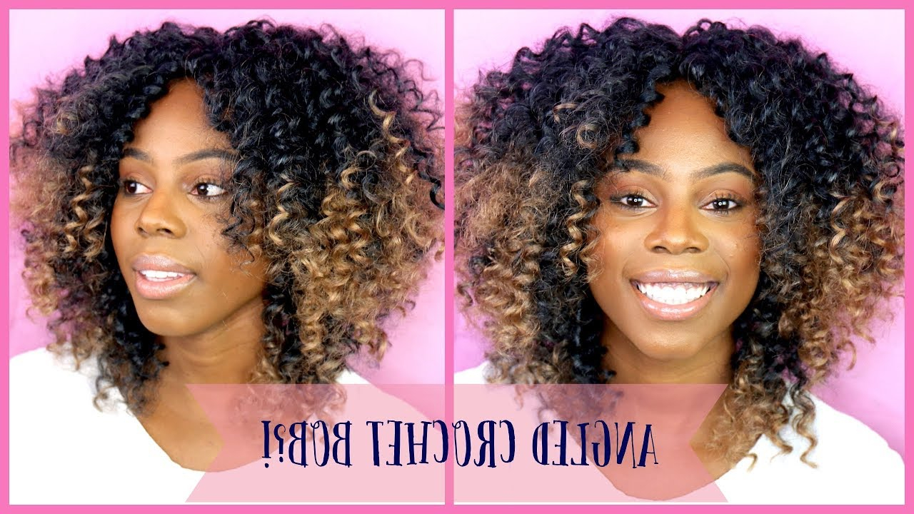 Favorite Angled Braided Hairstyles On Crimped Hair Throughout How To: Crochet Braids Curly Angled Bob. The Cutest Style! Ll Ft (View 12 of 20)