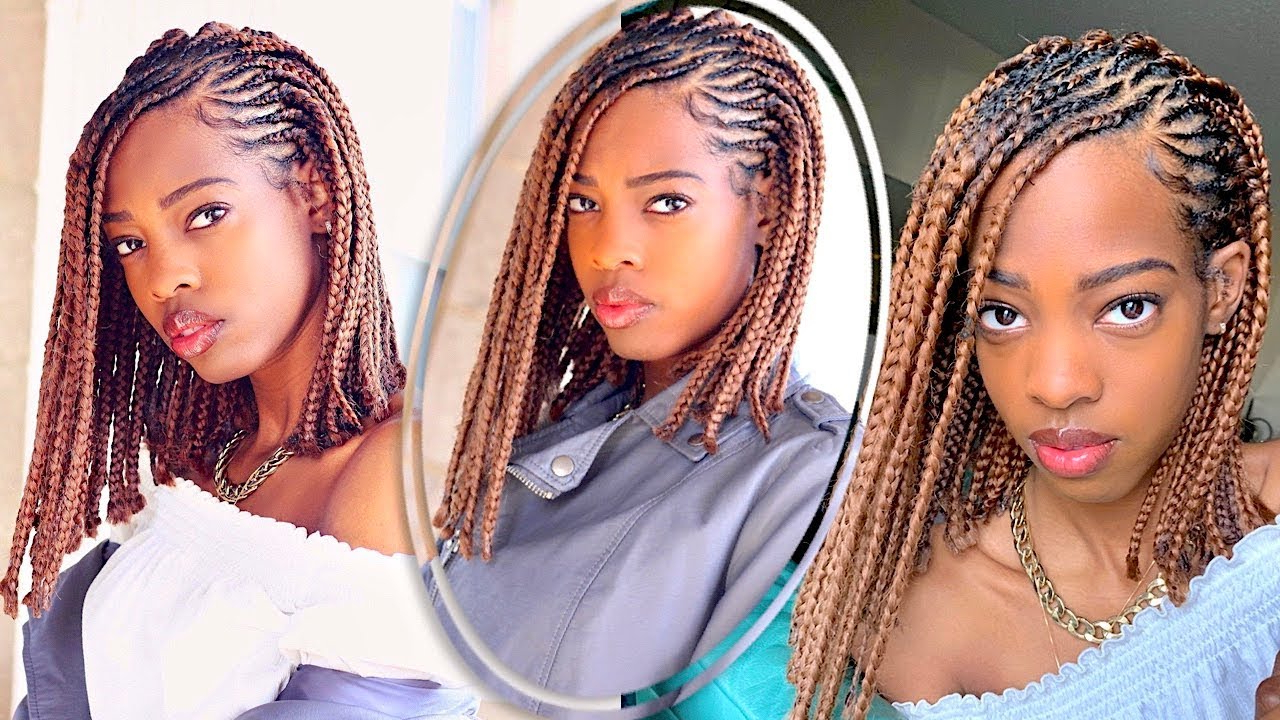Favorite Asymmetrical Bob Braid Hairstyles Inside Protective Style (View 6 of 20)