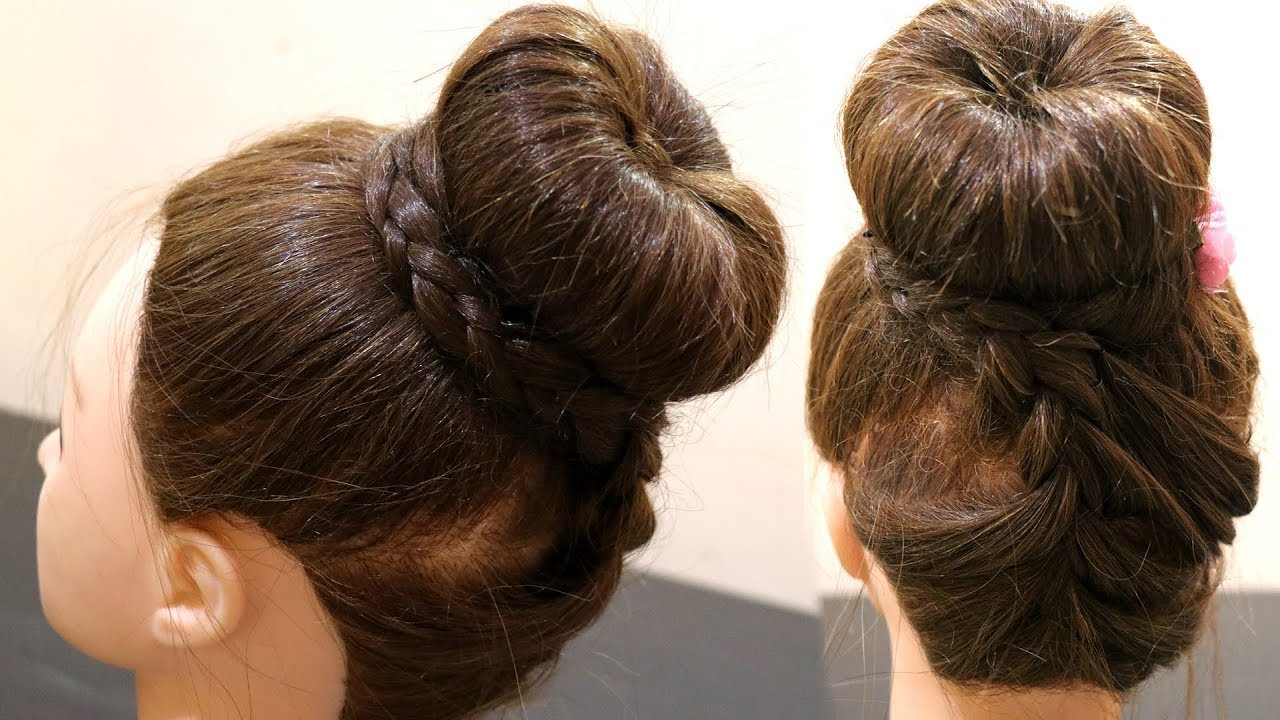 Favorite Braid Wrapped High Bun Hairstyles With Regard To Donut High Bun (View 10 of 20)