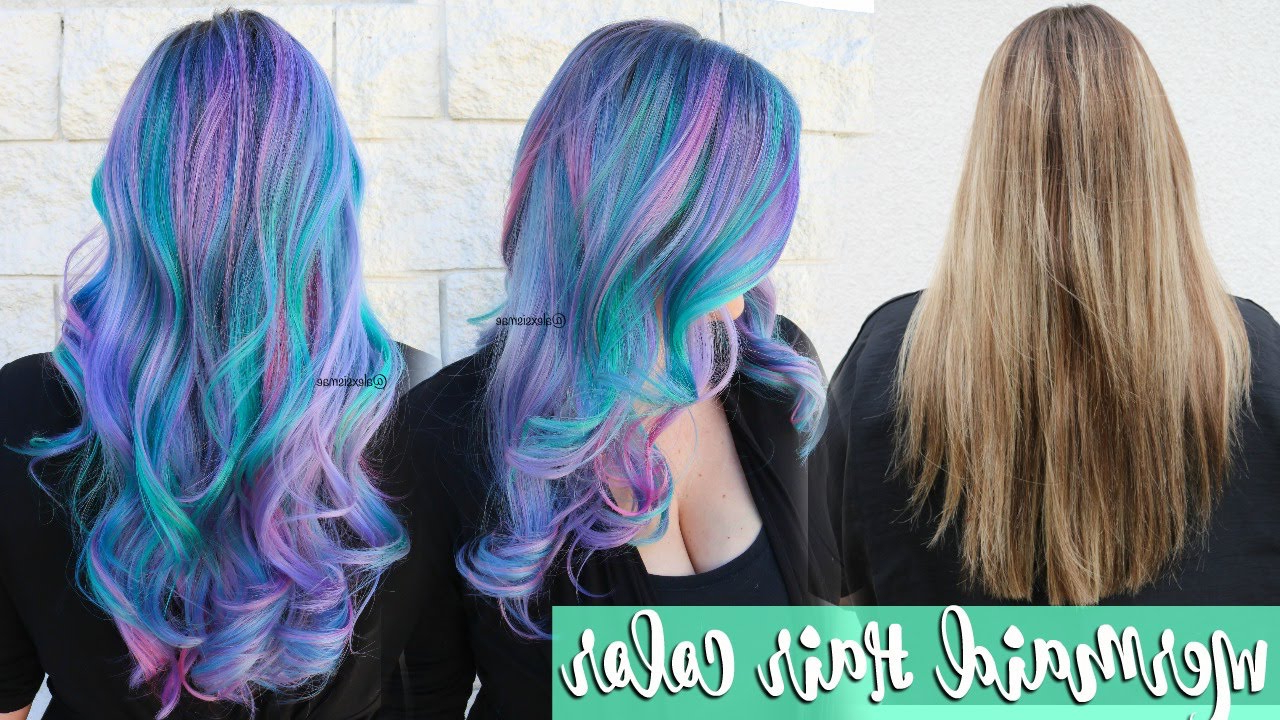 Favorite Cotton Candy Colors Blend Mermaid Braid Hairstyles Inside ★ Mermaid Hair Color Transformation ★ (View 8 of 20)