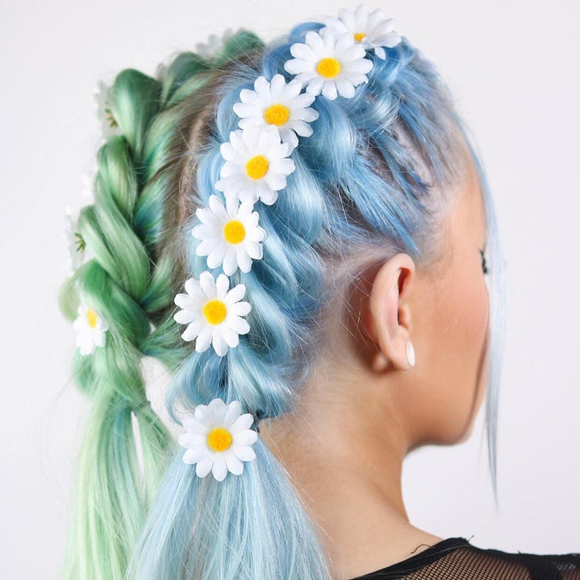 Favorite Cotton Candy Colors Blend Mermaid Braid Hairstyles Throughout 20 Festival Hairstyle Ideas For 2018 – Music Festival Hair (View 9 of 20)