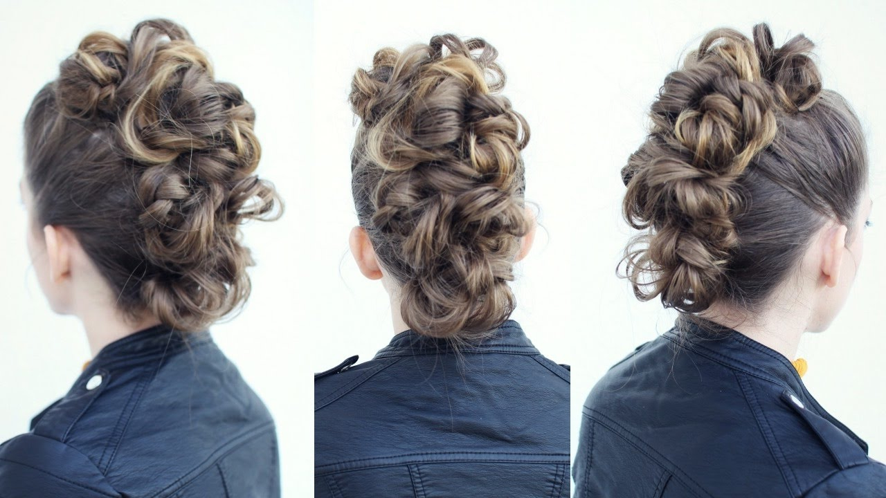 Favorite Curly Mohawk Updo Hairstyles Pertaining To Easy Faux Hawk Tutorial (View 17 of 20)