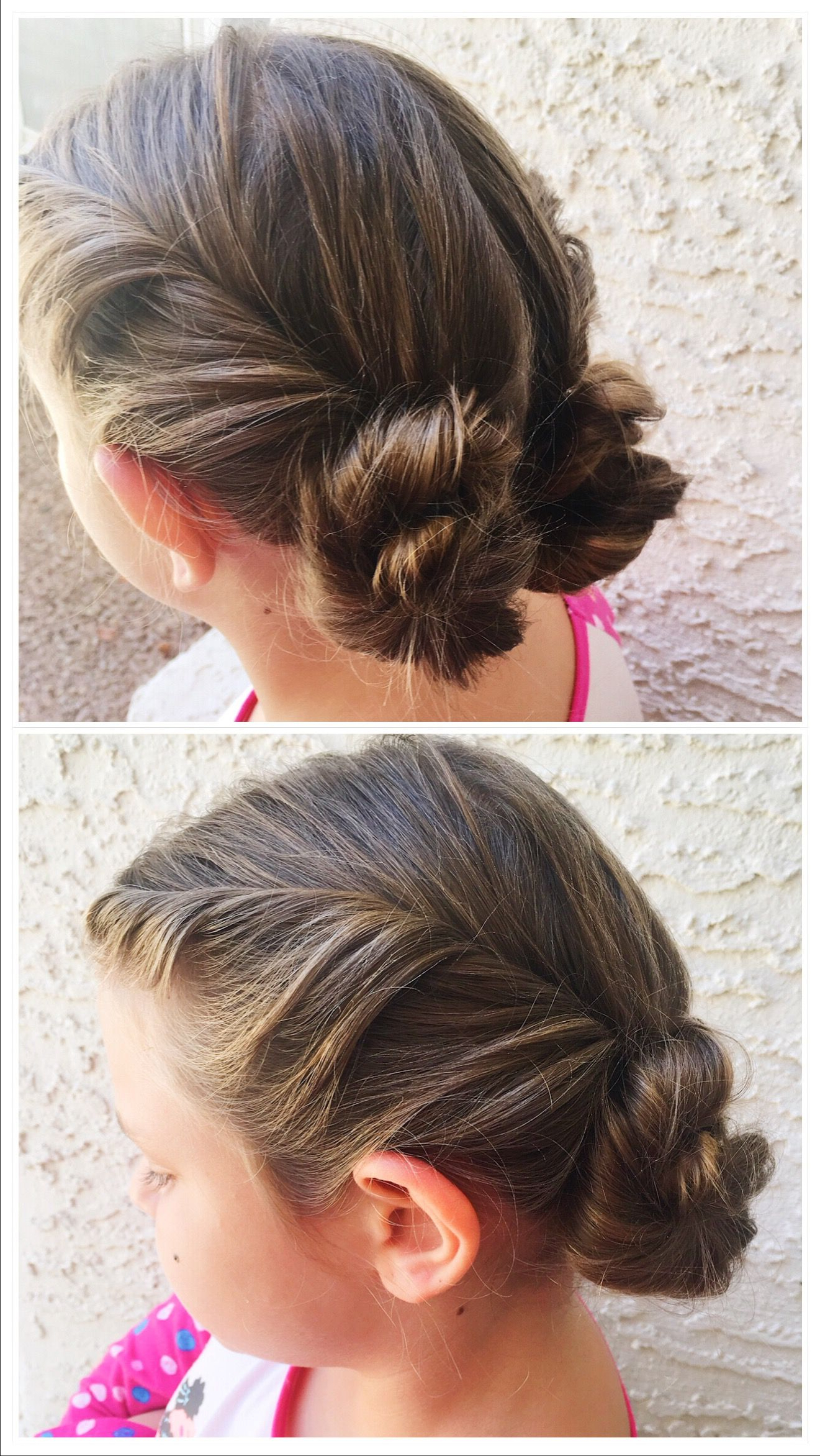 Favorite Double Twist Bun Updo Hairstyles Throughout Double Twists Into Two Bun Updo🤩 (View 9 of 20)