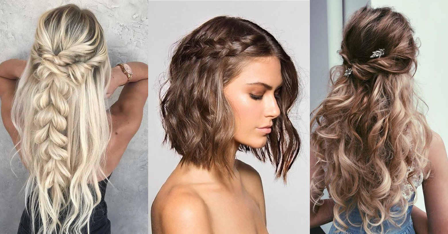 Favorite Half Up Half Down Boho Braided Hairstyles Intended For Stylish Prom Hairstyles Half Up Half Down (View 14 of 20)