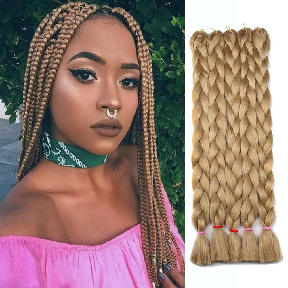 Favorite Light Brown Braid Hairstyles Pertaining To Enthralling Awesome Box Braids Hair Color » Accentshelties (View 16 of 20)
