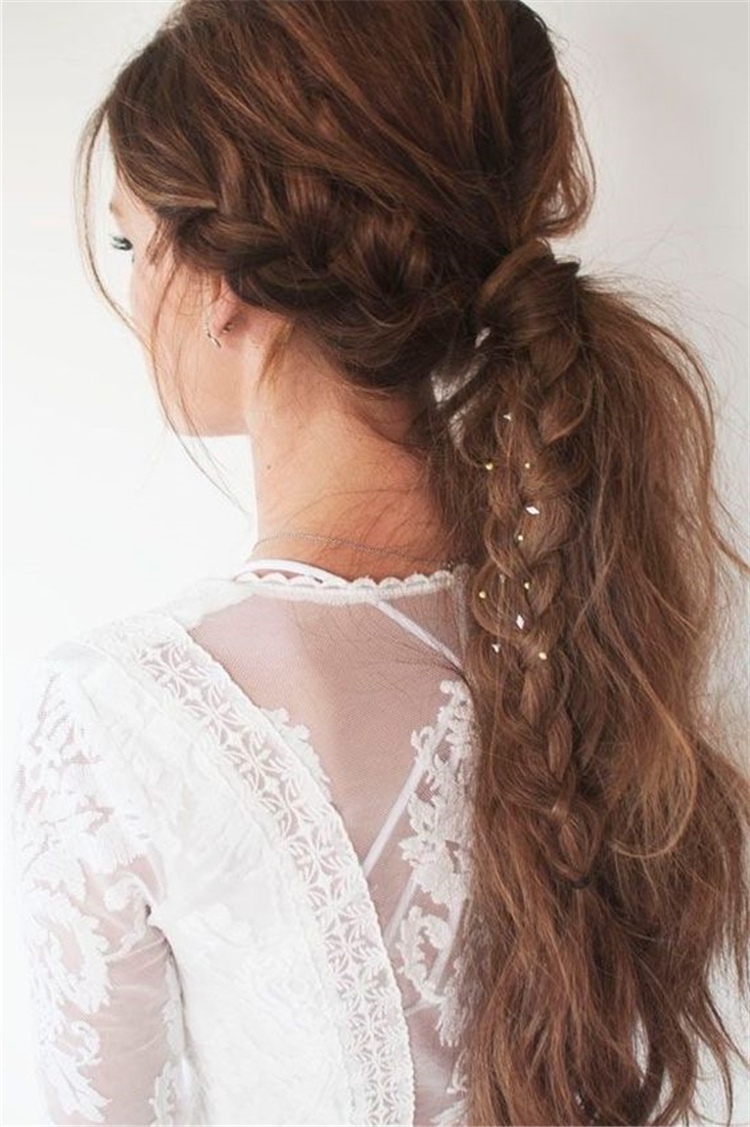 Favorite Low Ponytail Hairstyles In 37 Easy Twisted Low Ponytail Hairstyles Sumcoco (Gallery 10 of 20)