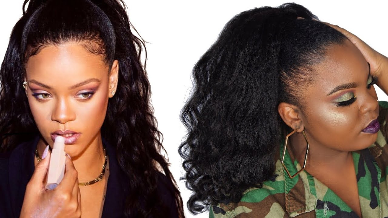 Favorite Natural High Ponytail Updo Hairstyles In How To Do A Rihanna Inspired Loose High Ponytail On Short 4c (View 9 of 20)