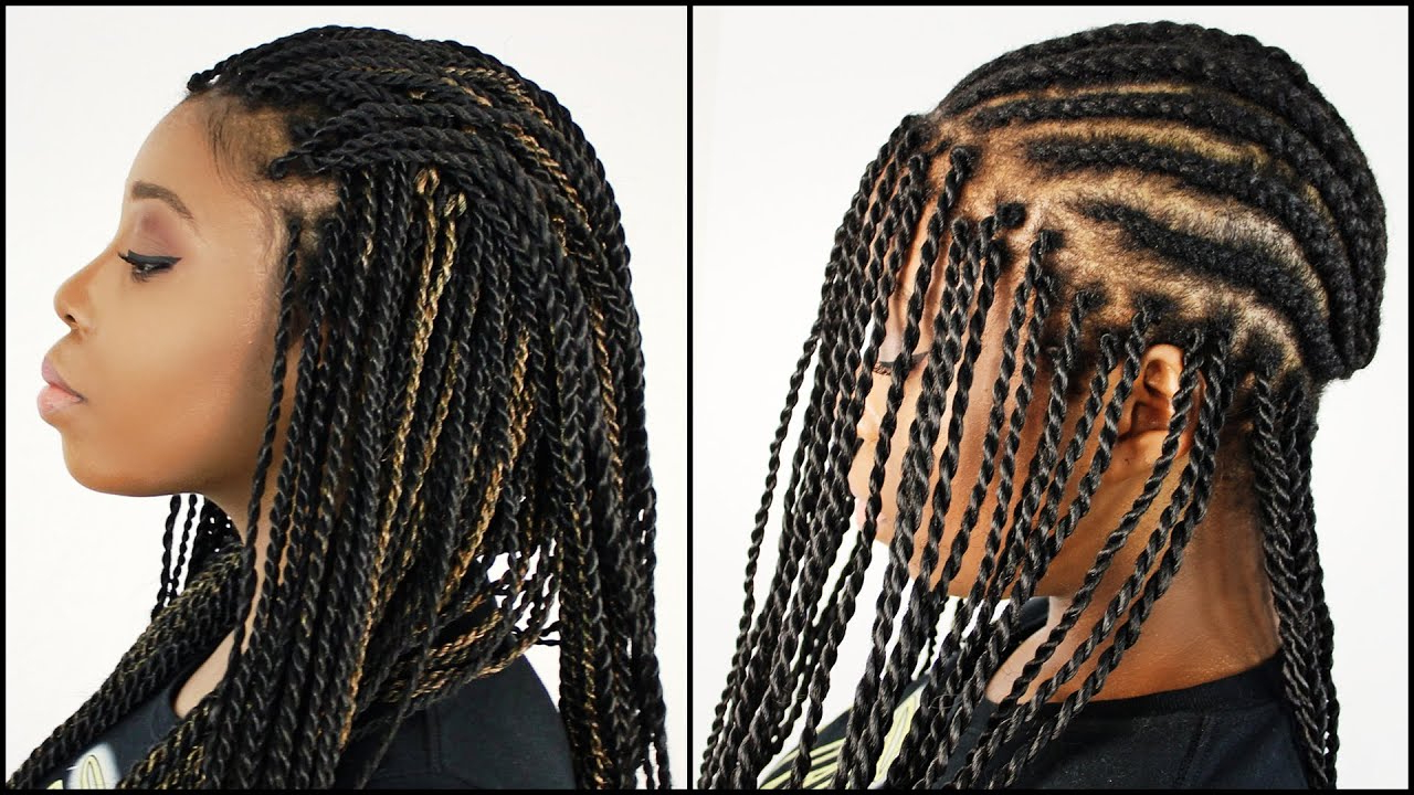 Favorite Partial Updo Rope Braids With Small Twists With Mrs Rutters Perimeter Crochet Senegalese Twist Full Dvd Tutorial (View 10 of 20)