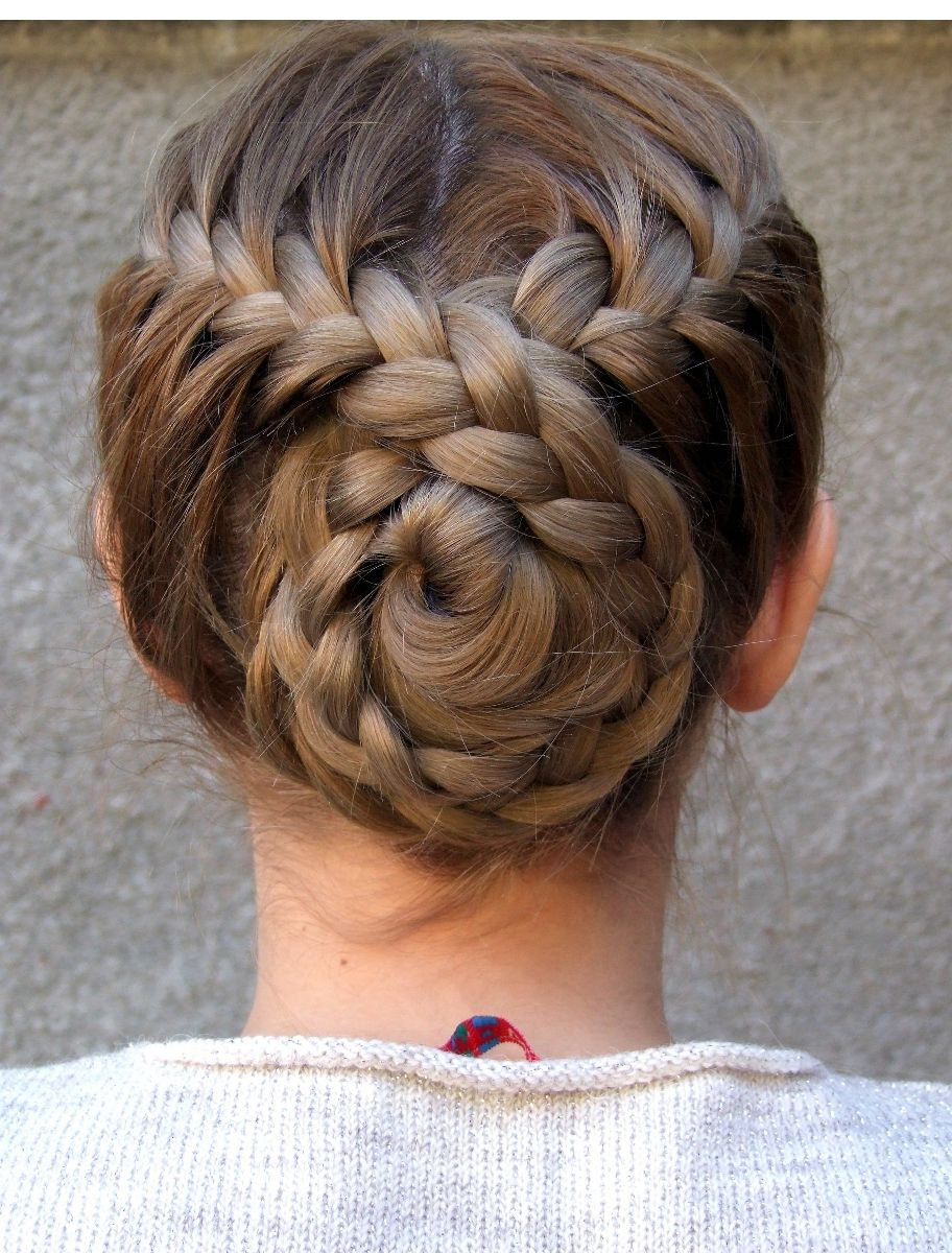 Favorite Plaited Chignon Braided Hairstyles With Regard To Braided Back Bun Hairstyle … (View 3 of 20)