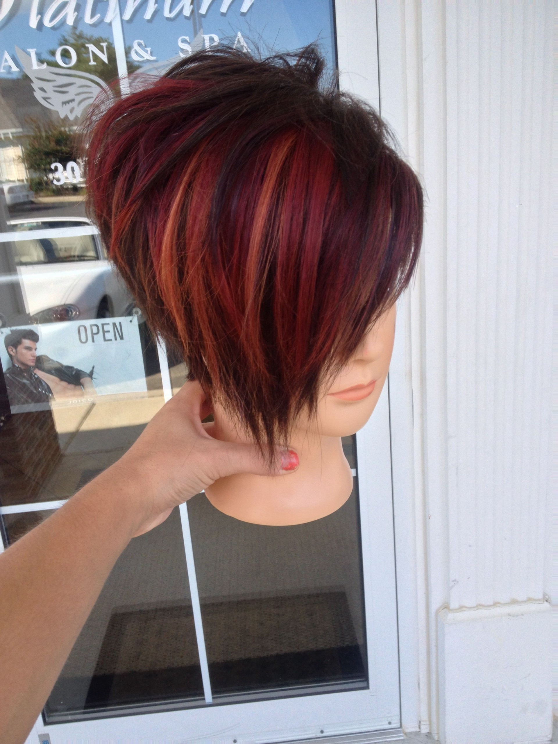 Favorite Short Stacked Bob Micro Braids With Photo Gallery Of Stacked White Blonde Bob Hairstyles Viewing (View 6 of 20)
