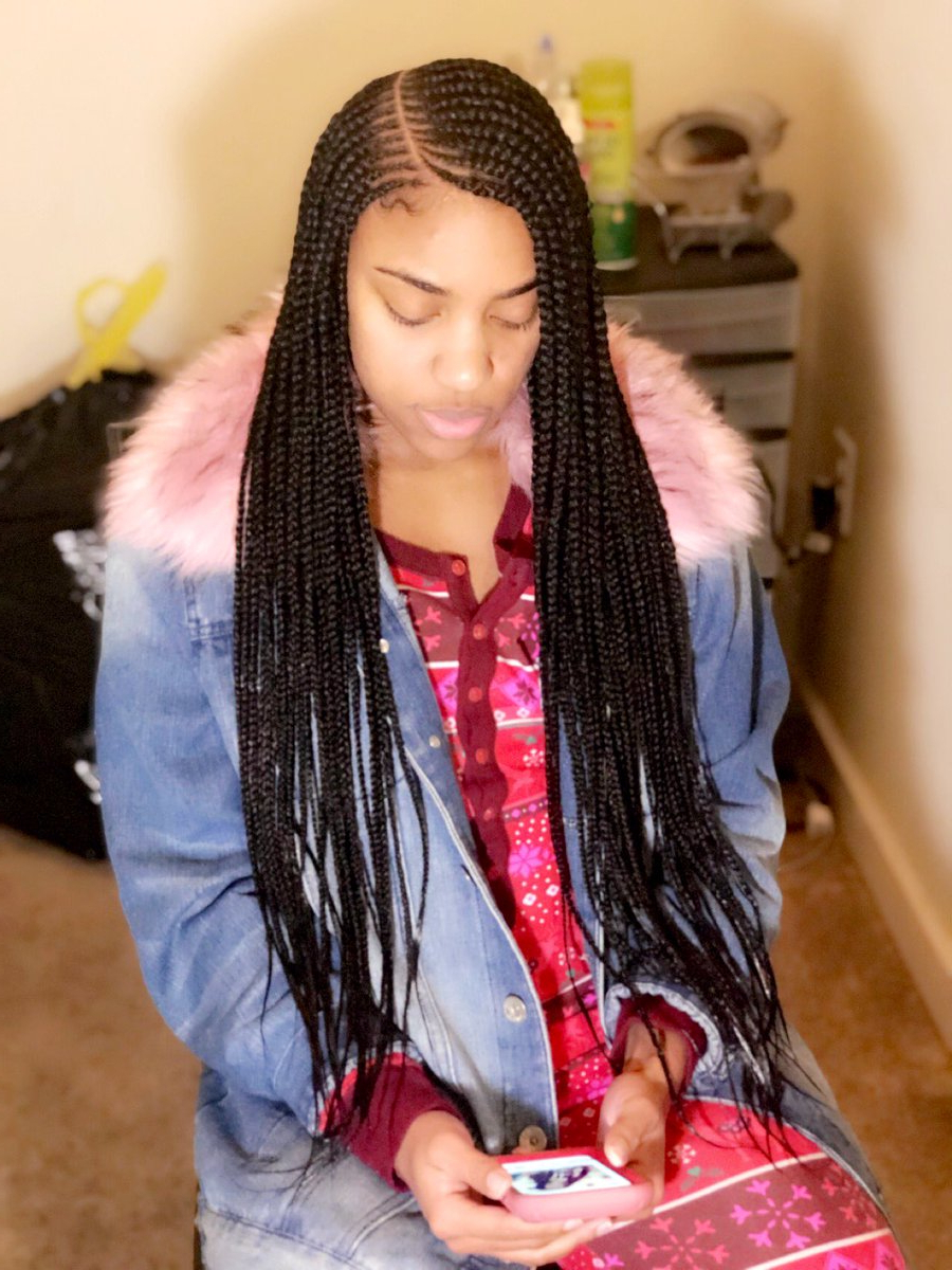 Favorite Side Parted Braid Hairstyles With 2 Layer Side Part Tribal Braids 😍🥰 Love Doing Different (View 11 of 20)