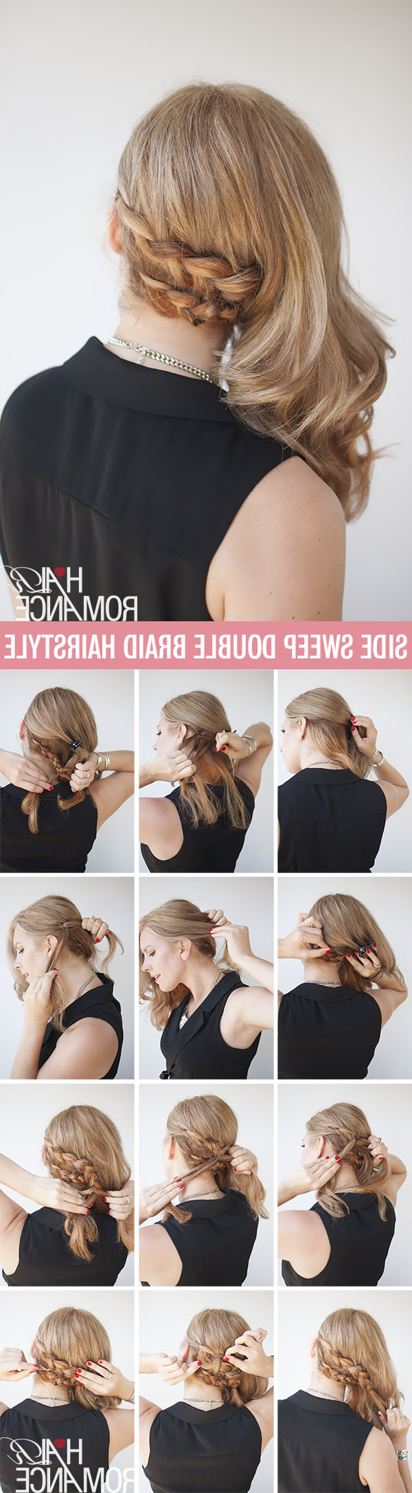 Favorite Side Swept Braid Hairstyles Throughout The Compromise Hairstyle – Half Up And Half Out Braid (View 15 of 20)