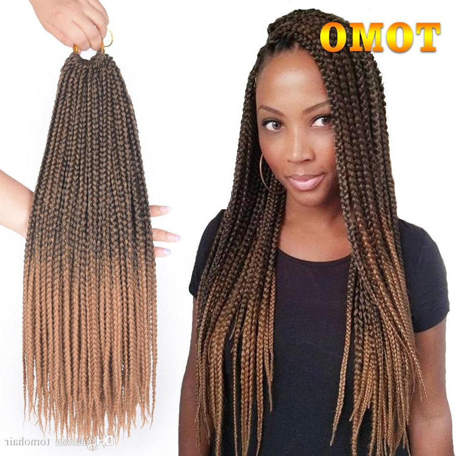 Favorite Straight Mini Braids With Ombre In Tomo 14/18/22 Inch Crochet Box Braids Hair Extensions Black Ombre Blonde  Brown Burgundy Grey Crochet Braids Kanekalon Synthetic Hair 22Roots (View 10 of 20)