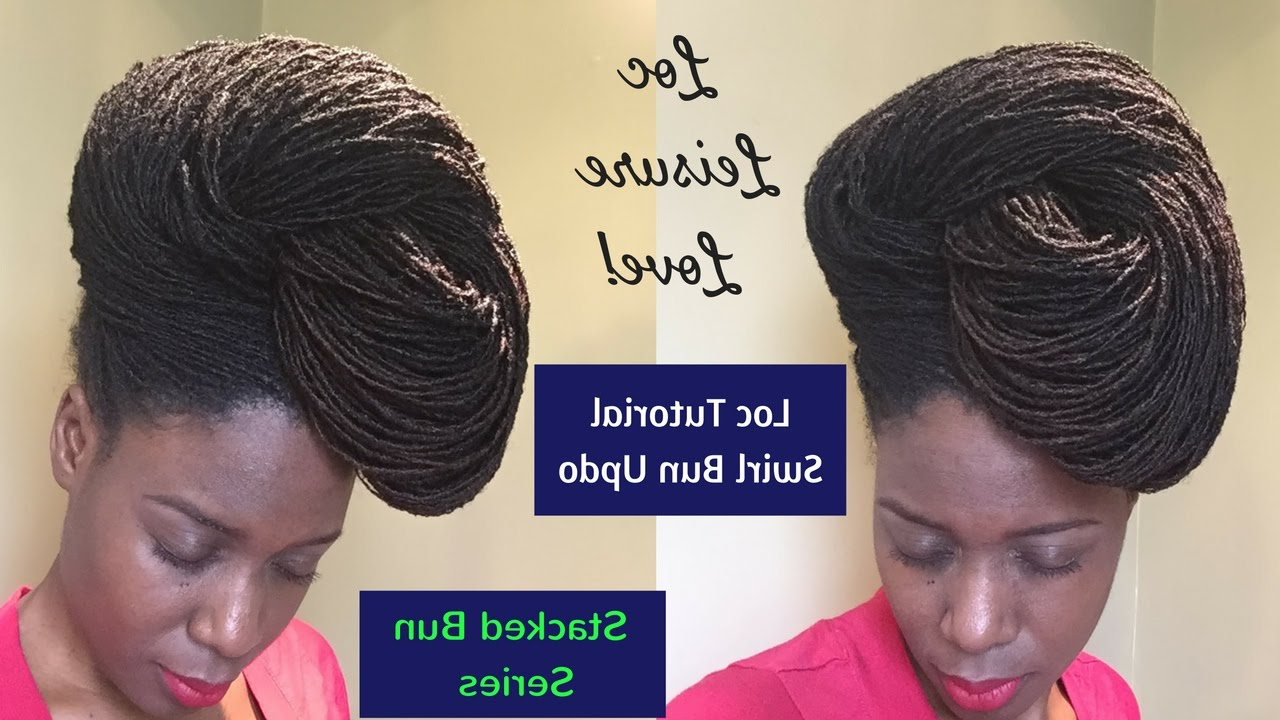 Featured Photo of Swirl Bun Updo Hairstyles