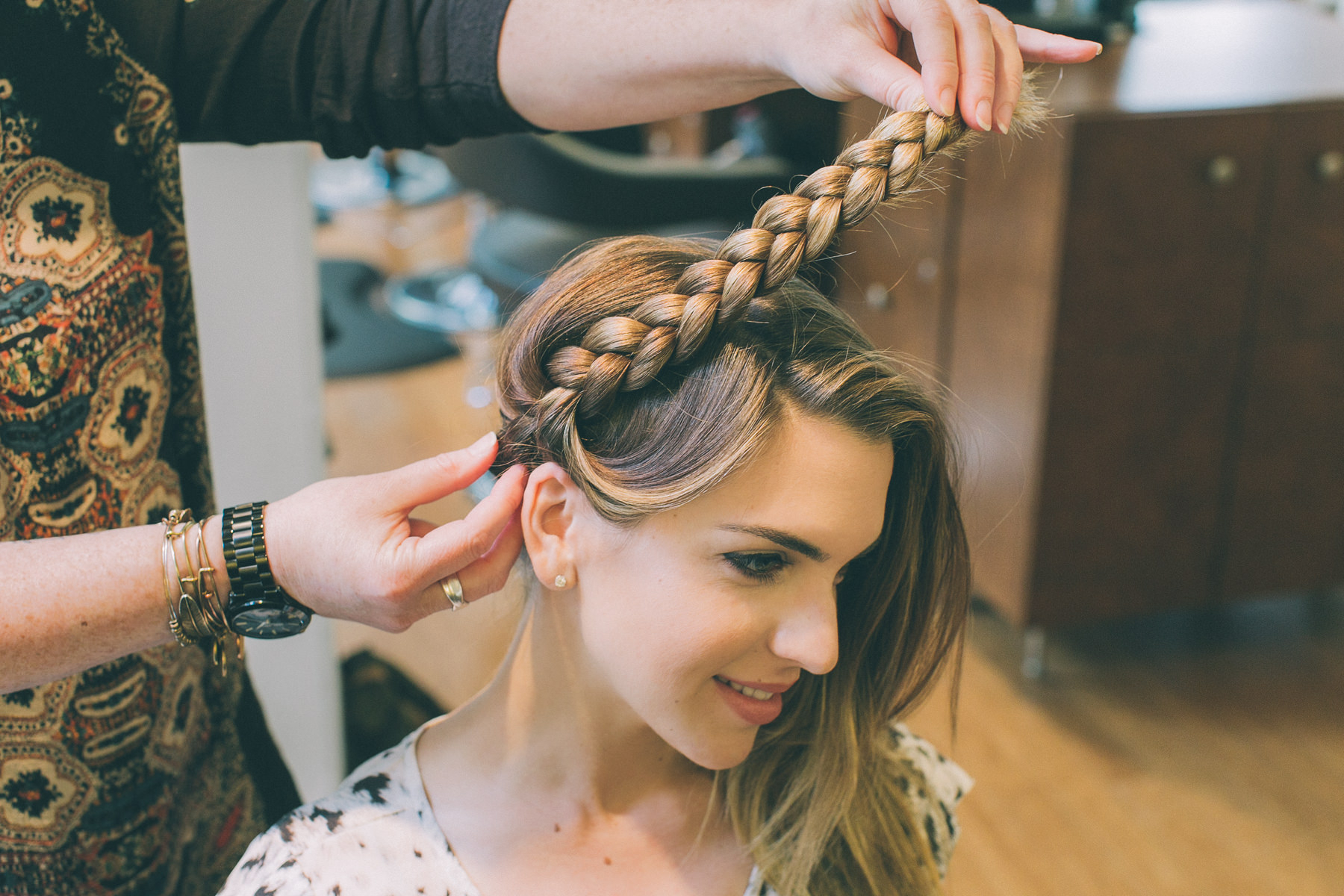 Favorite Tight Braided Hairstyles With Headband Pertaining To Double Headband Braid Tutorial – The Life And Style Of (View 12 of 20)