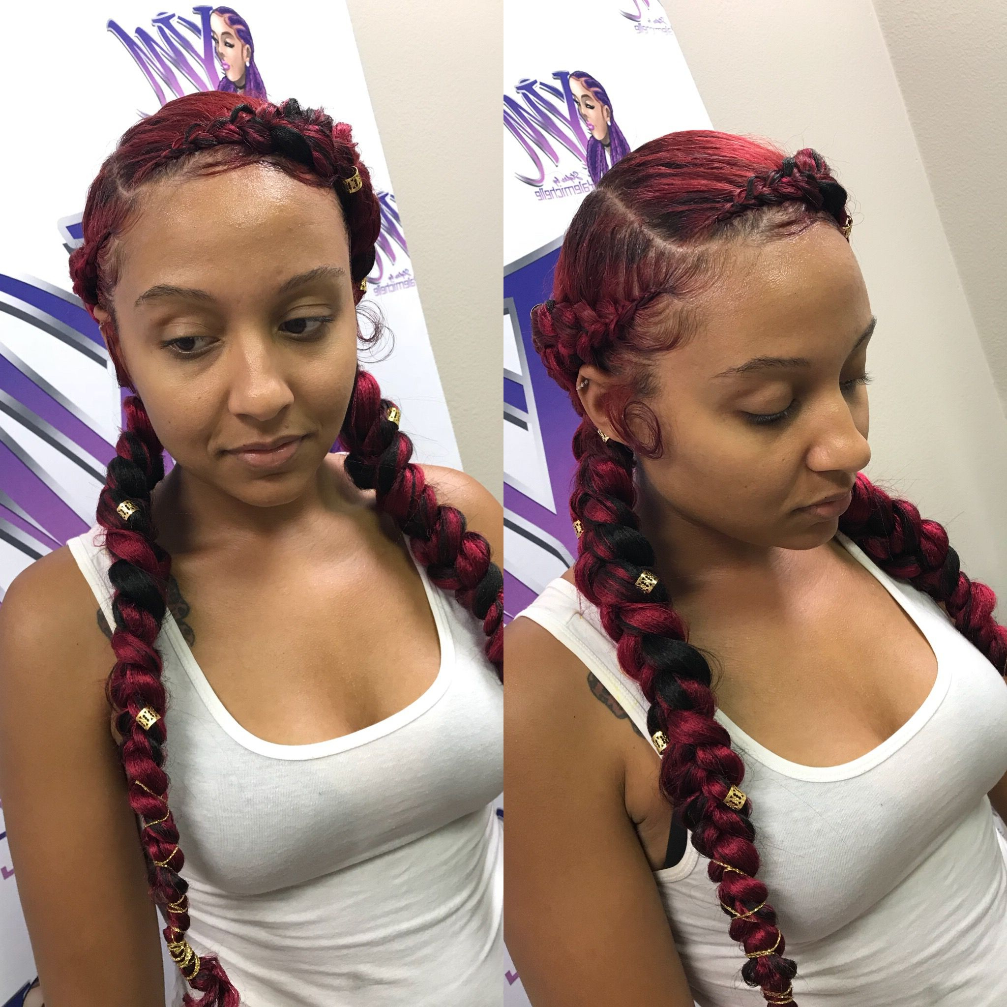 Favorite Tipped Box Braid Spiral Bun Hairstyles Intended For Pinstyledby Yalemichelle On @styledby Yalemichelle In (View 15 of 20)