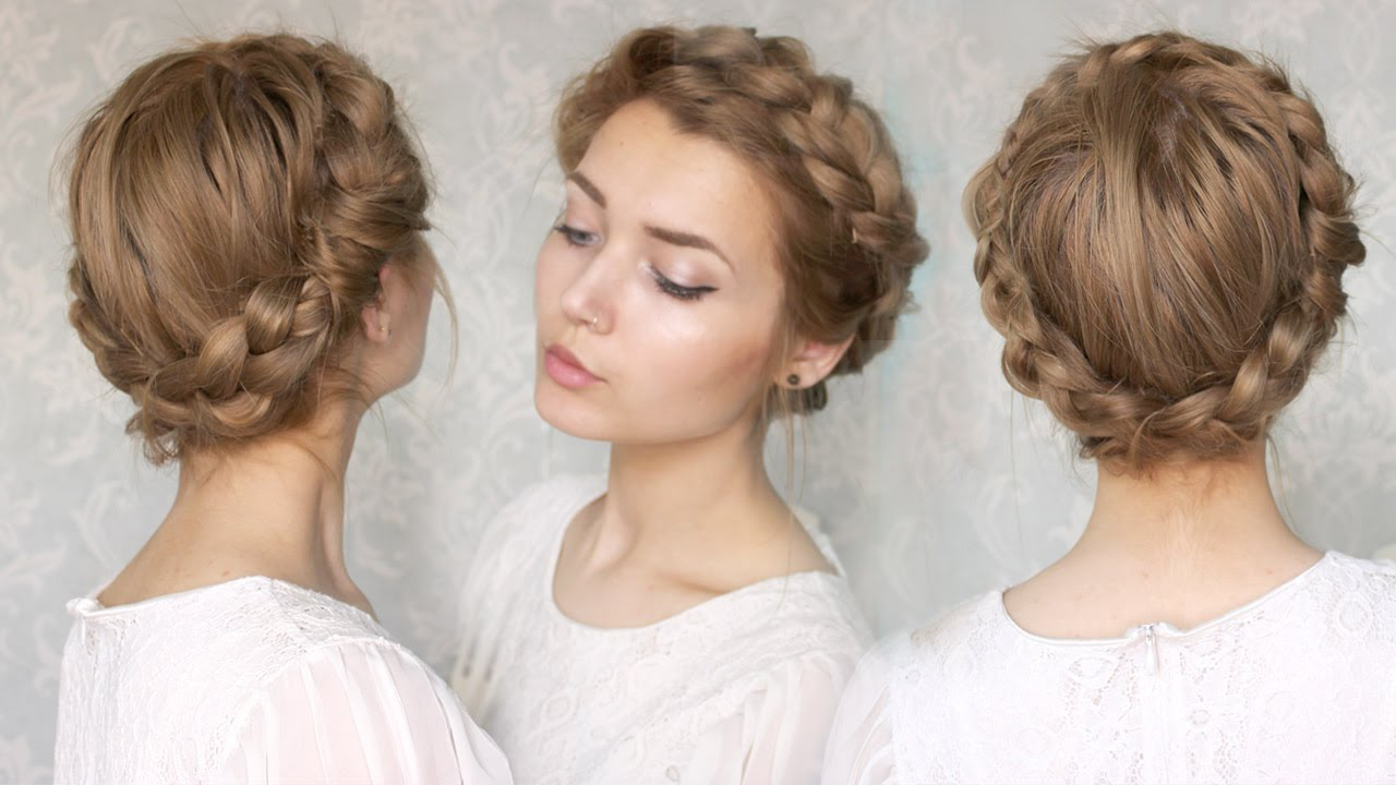 Featured Photo of Traditional Halo Braided Hairstyles With Flowers