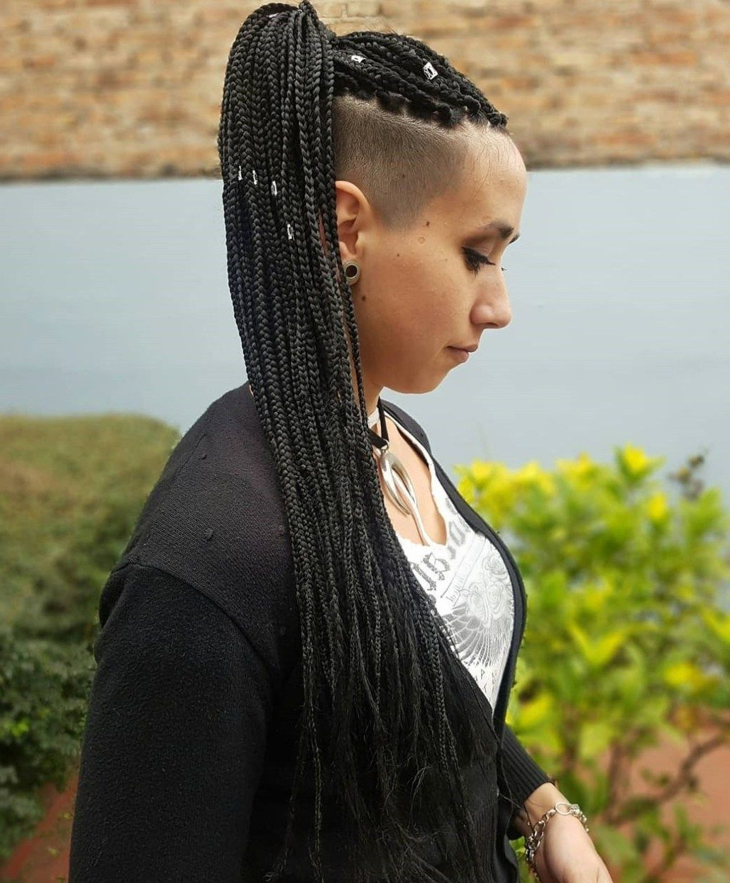 Favorite Undershave Micro Braid Hairstyles Pertaining To Pin On Natural Hair Styles (View 7 of 20)