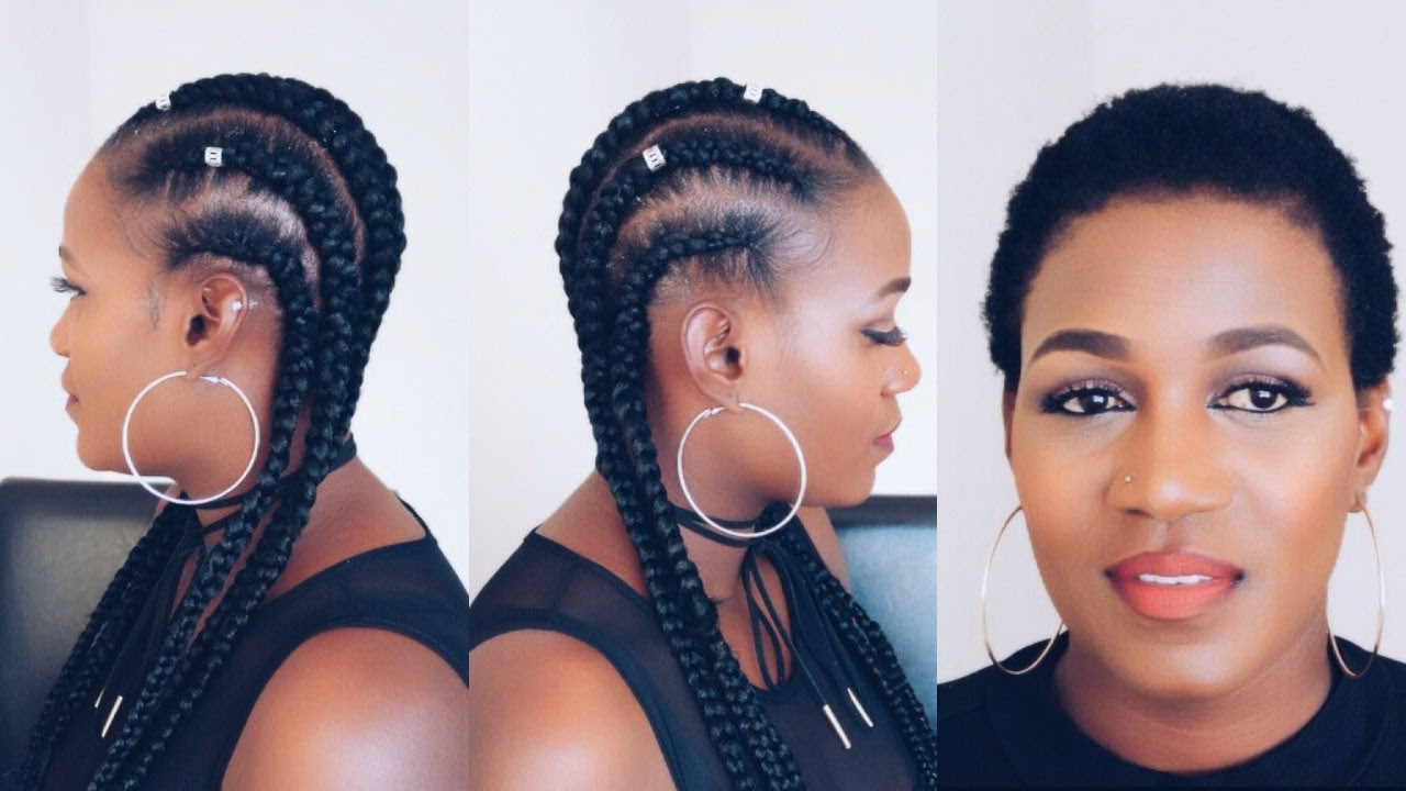 Feed In Braids On Short Natural 4c Hair (View 16 of 20)