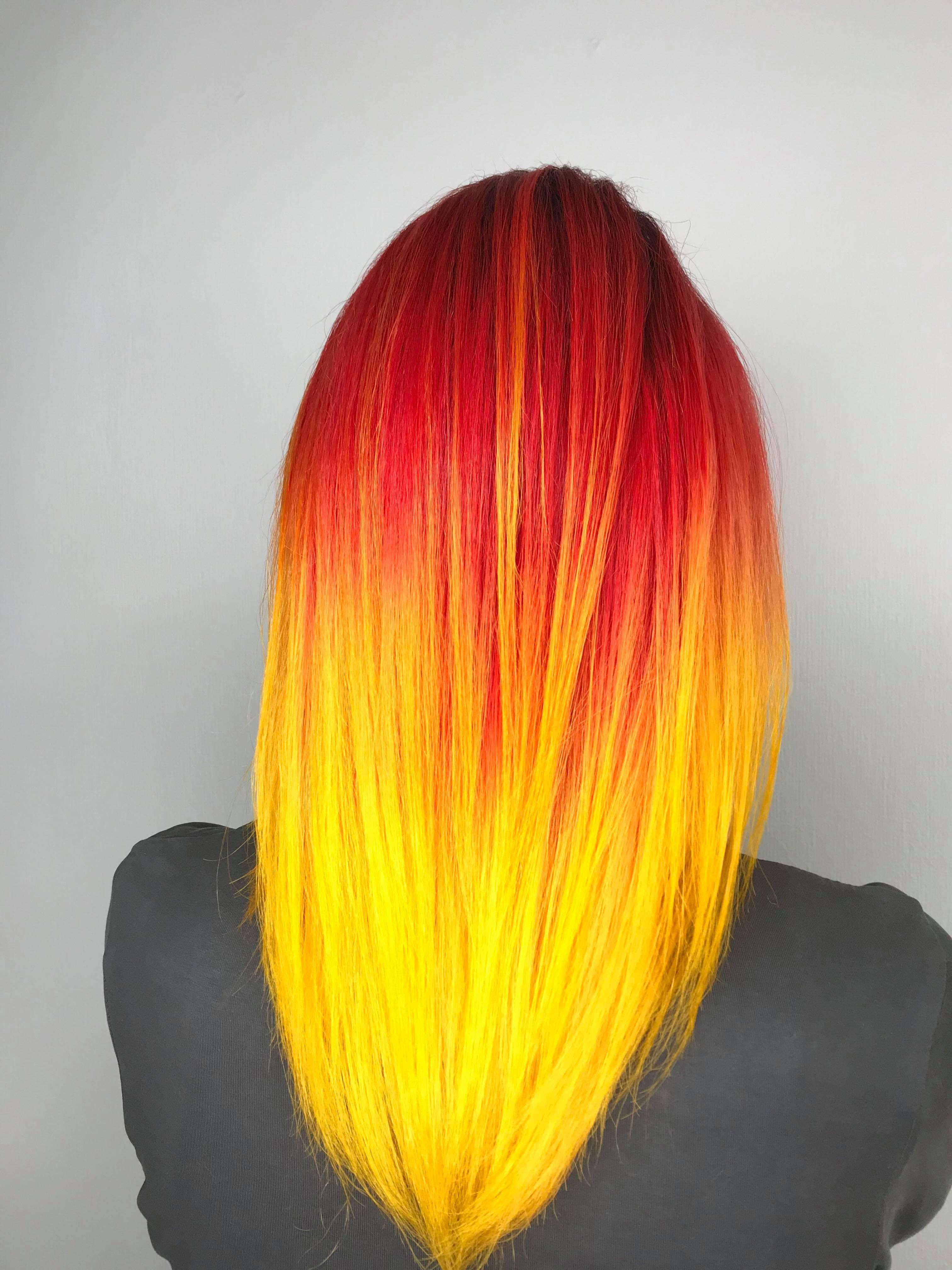 Fire Color Hairpriton Krasoty (View 11 of 20)