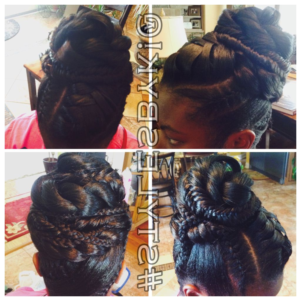 Fishtail Braid Updo. Black Hair. African American Hair (View 20 of 20)